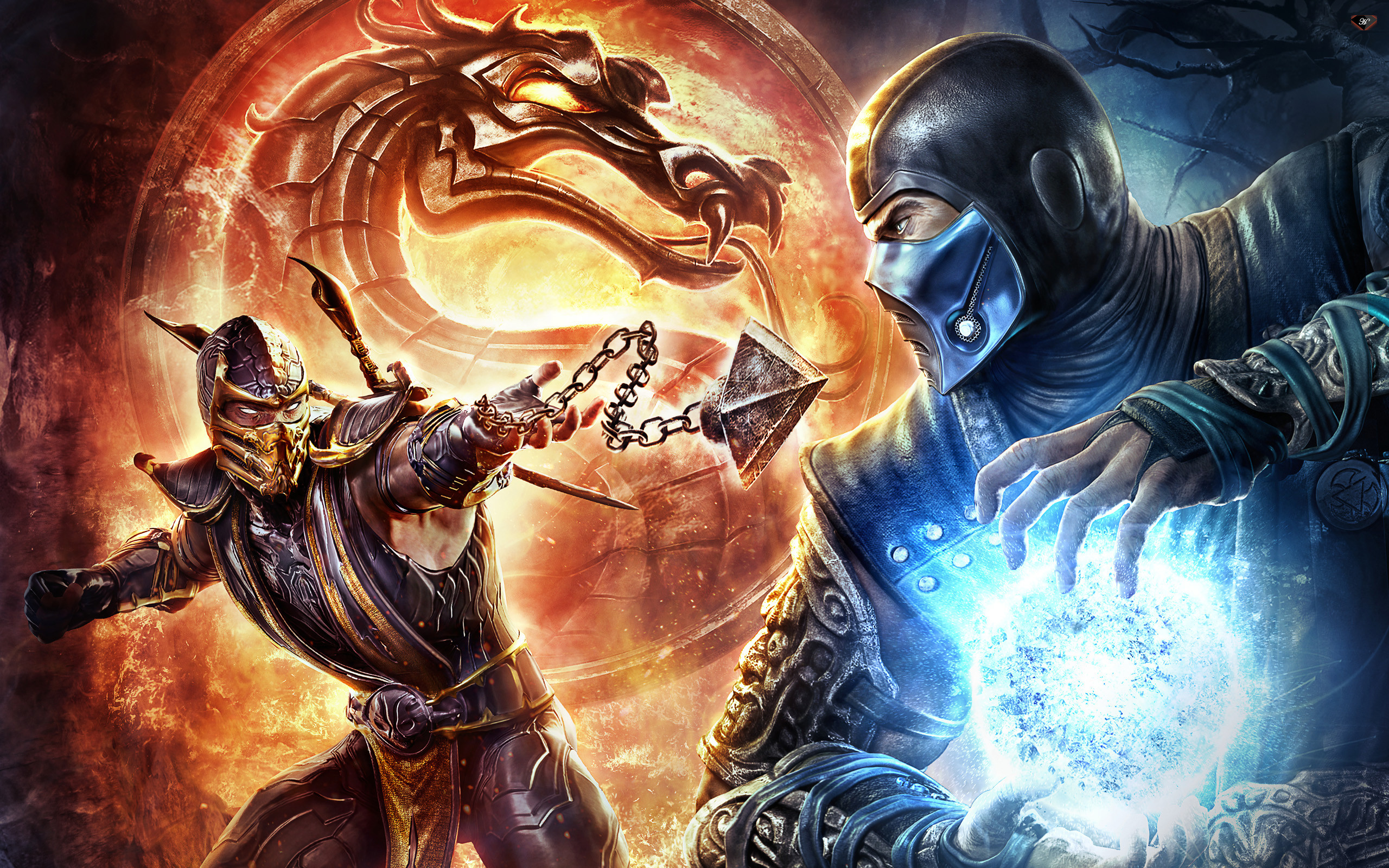 1920x1200 Scorpion Wallpaper Mortal Kombat 9