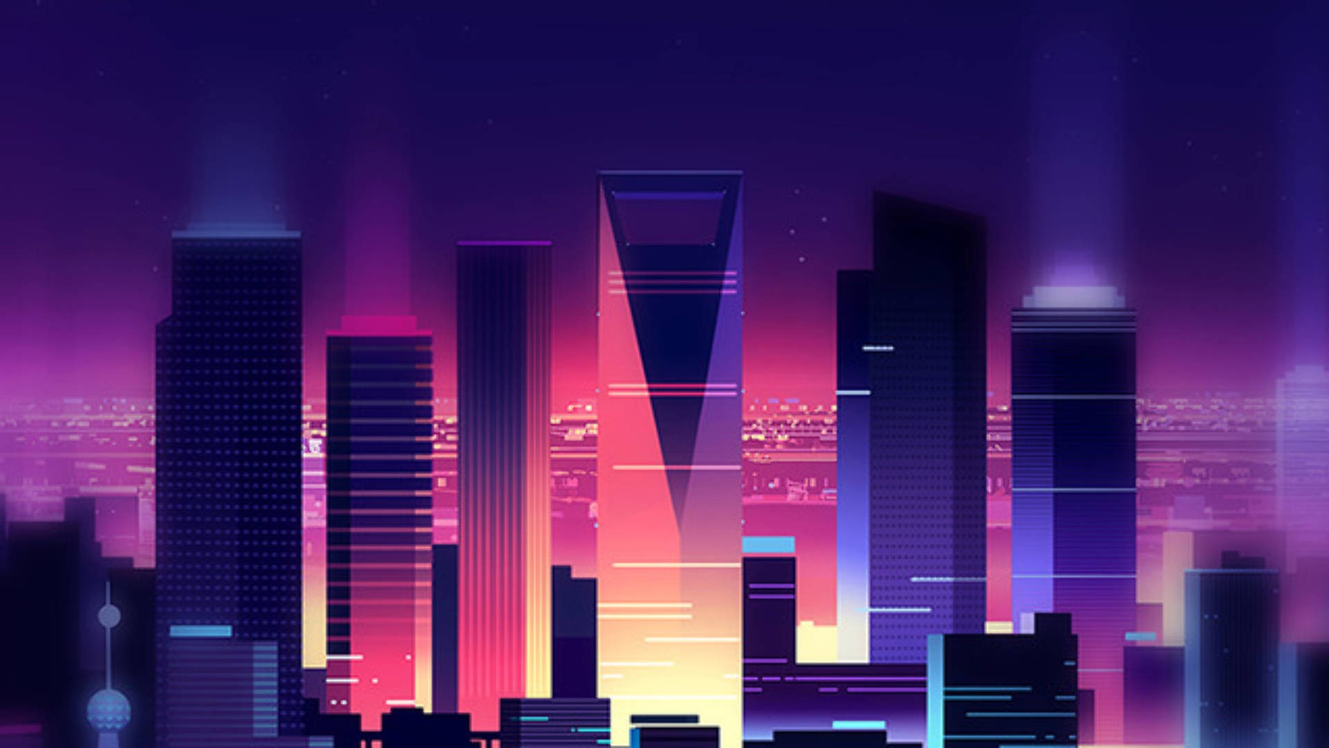 Synthwave wallpaper ·① Download free High Resolution