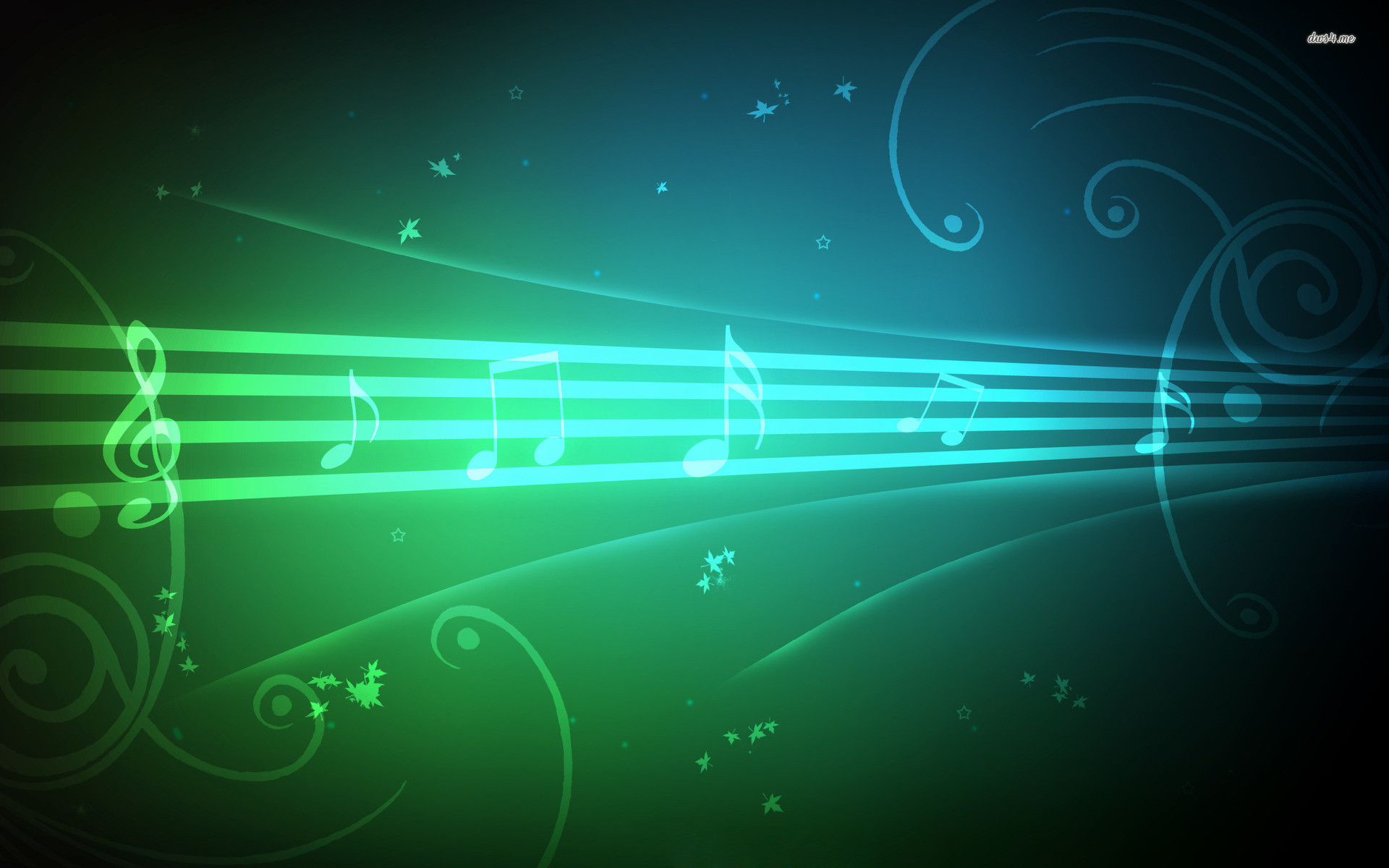 Rainbow Music Notes Background Hd Wallpaper Background Images: Musical Background Images ·①
