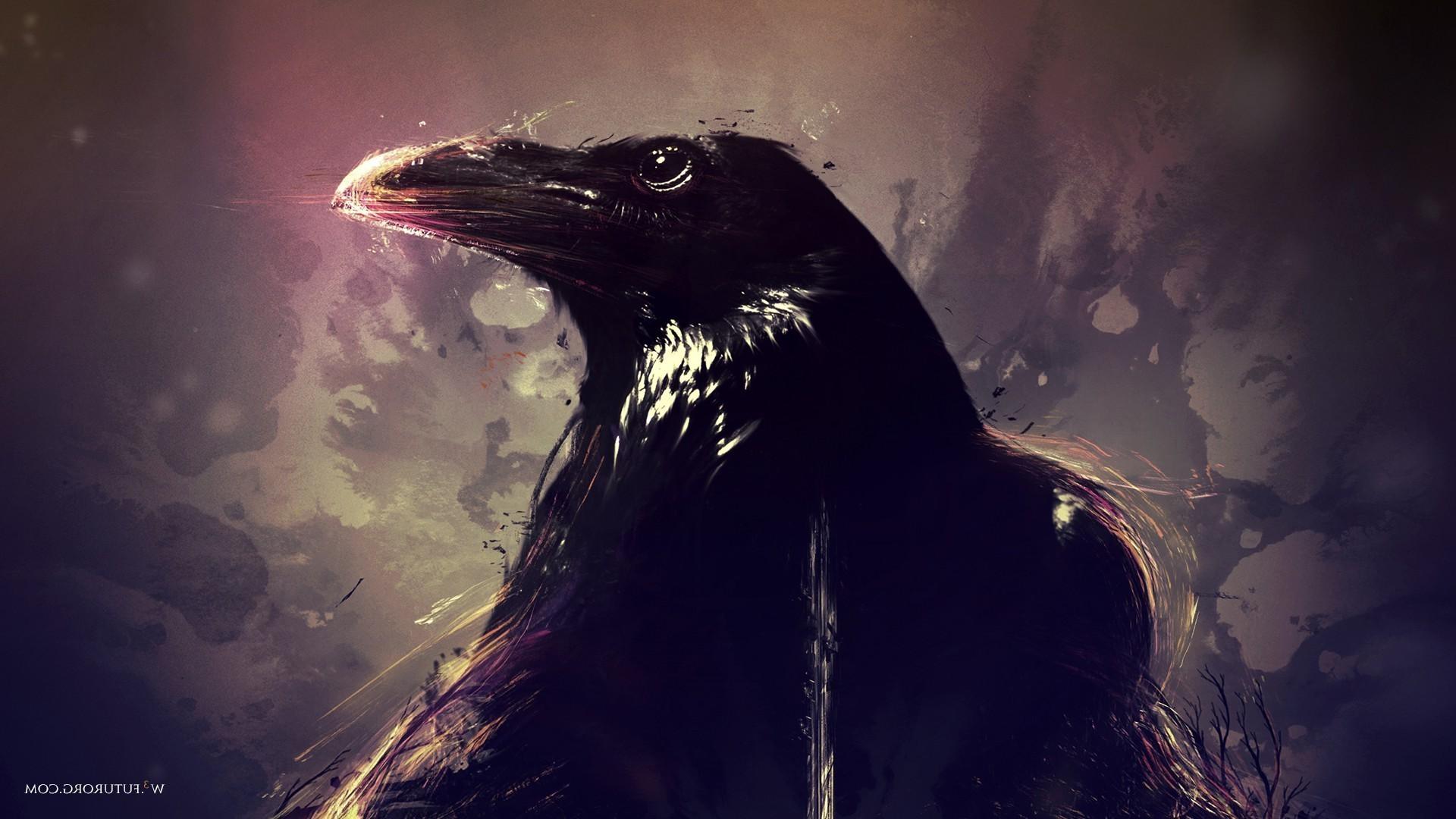 1920x1080 Raven Artwork Animals Birds Wallpaper HD