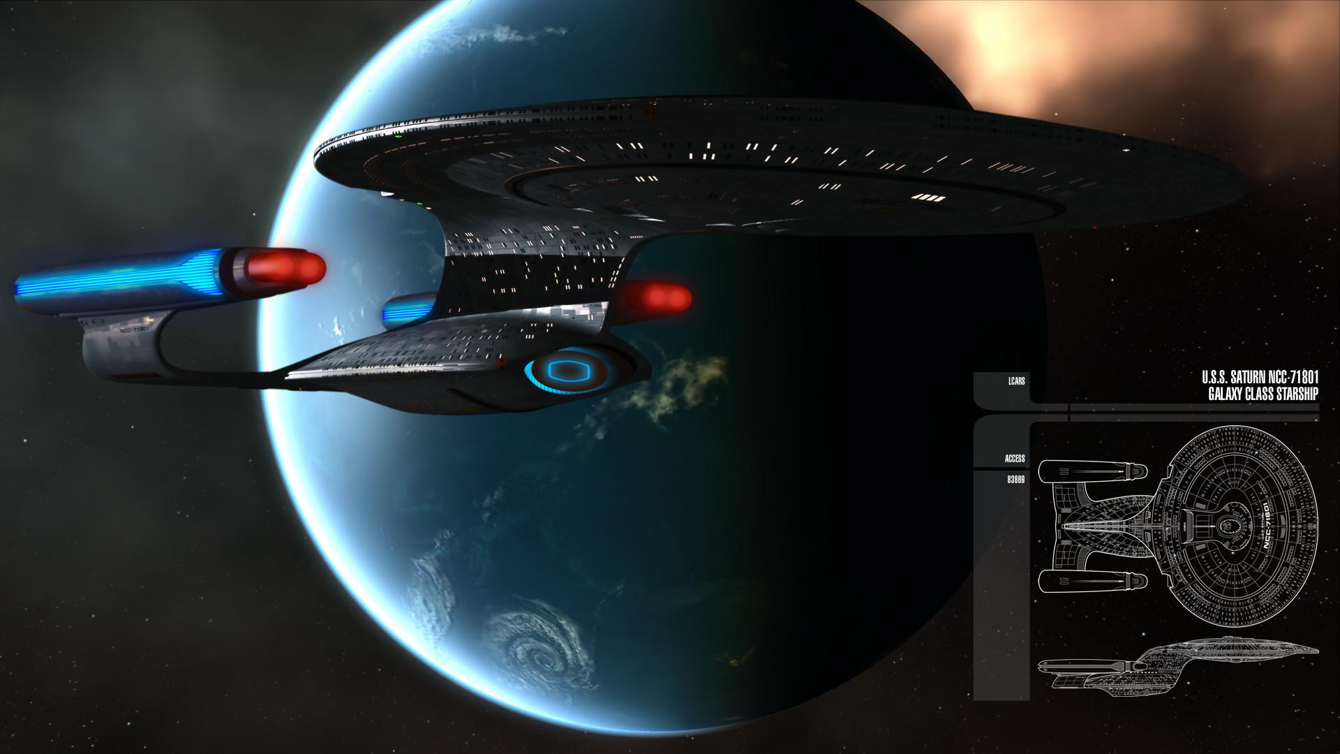 Galaxy Class Starship Wallpaper ·① WallpaperTag