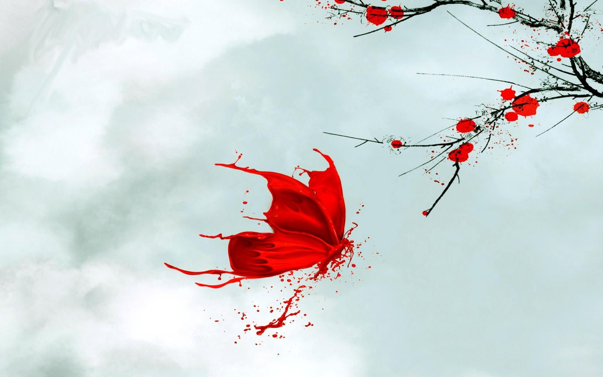 Red Butterfly Wallpaper ·① WallpaperTag