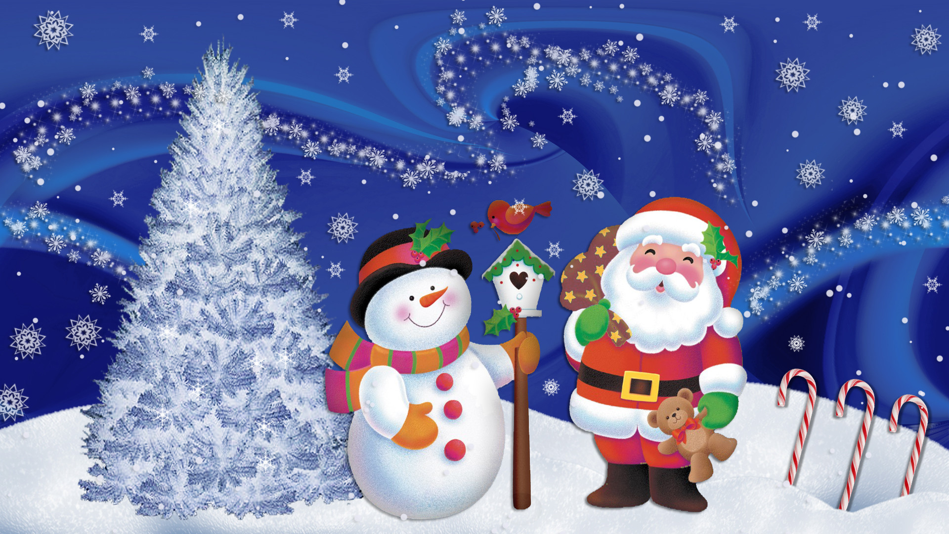 3d Christmas Backgrounds ①
