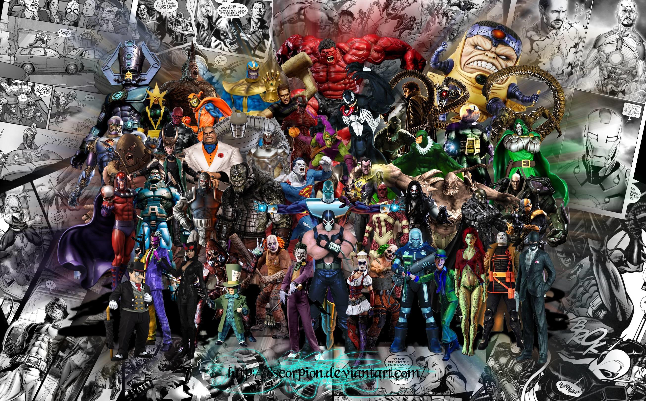 Marvel vs dc wallpaper wallpapertag - Dc characters wallpaper hd ...