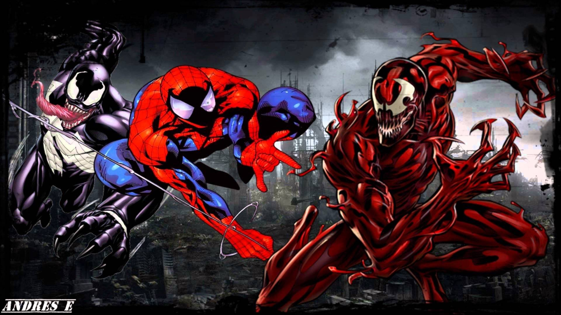 carnage vs venom wallpaper 183��