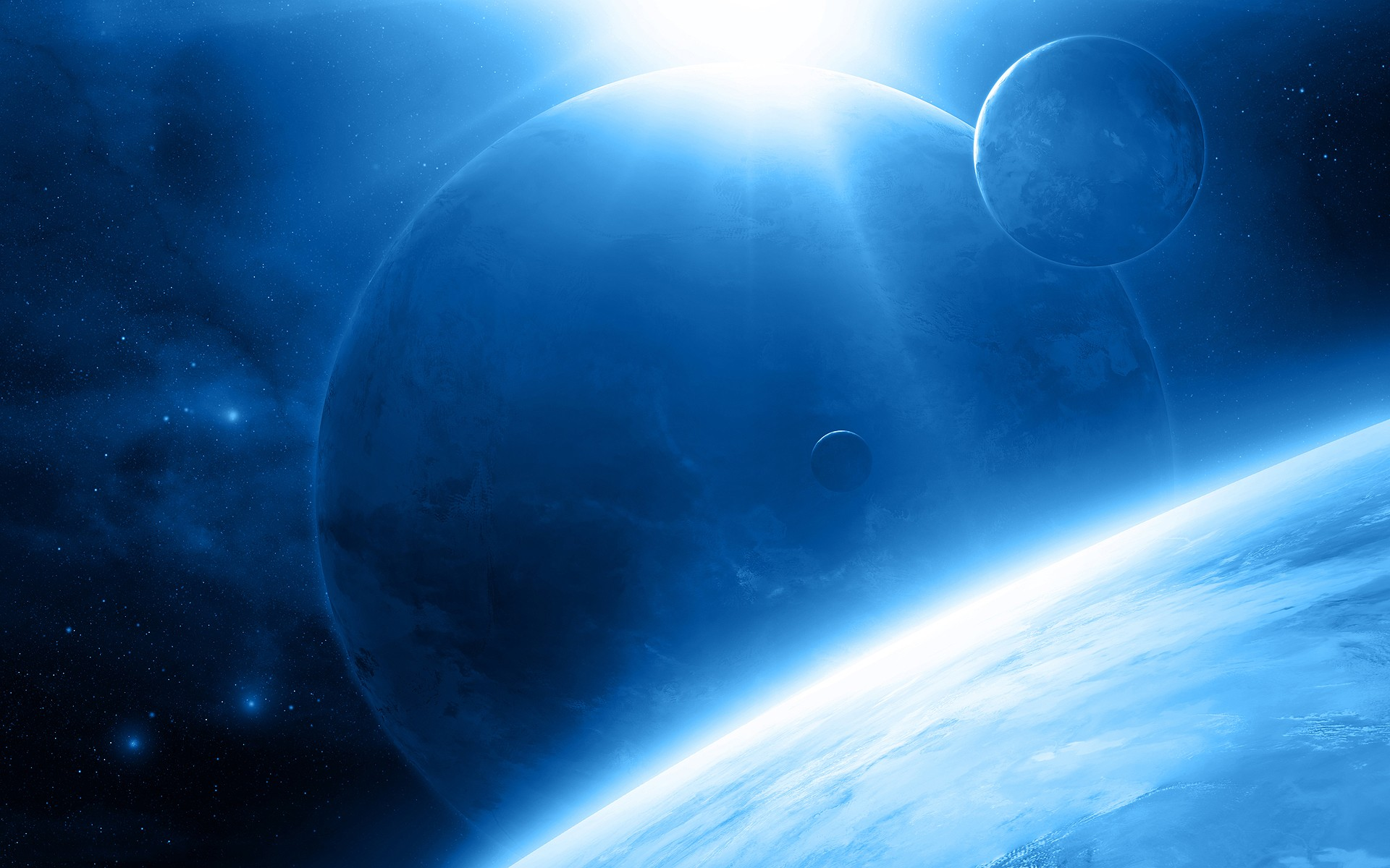 Blue space background download free awesome full hd - Space wallpaper 1920x1200 ...