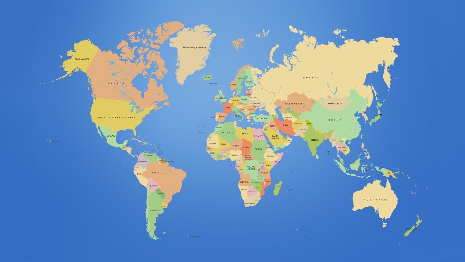 World Desktop Background ① - 4k image of us map