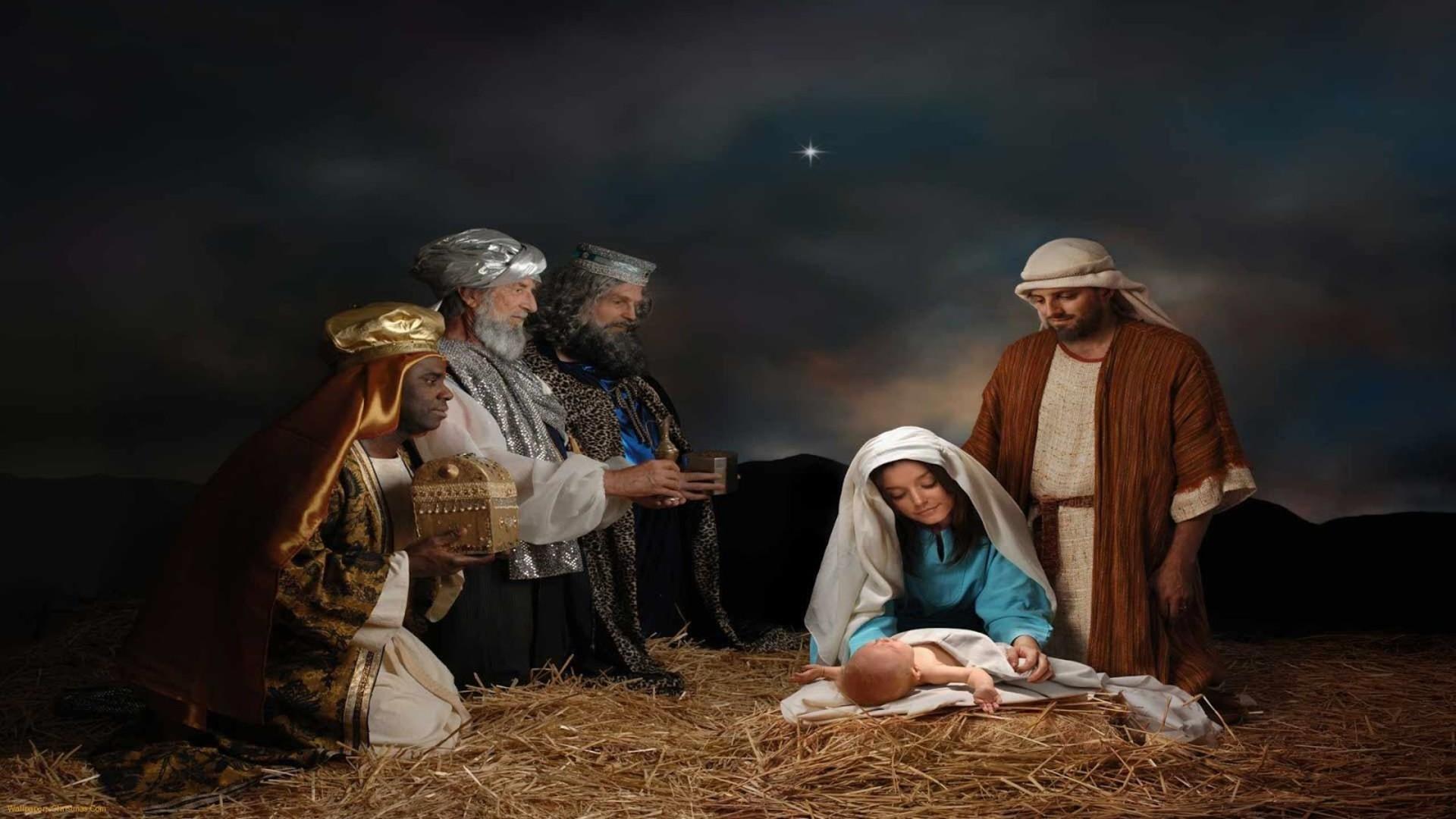 Nativity Scene Background ·①