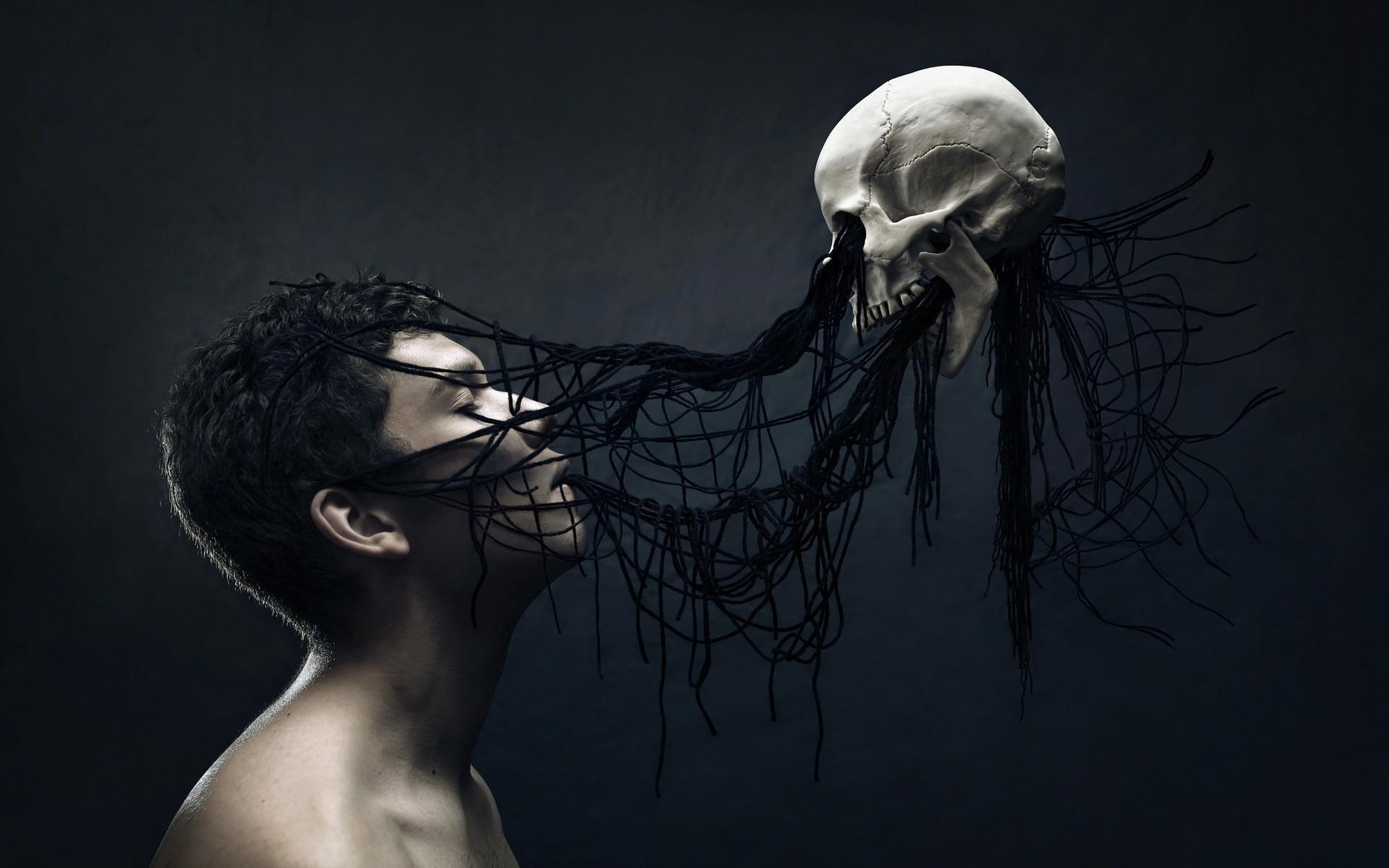 Gothic skulls wallpaper skull wallpaper 09710 voltagebd Gallery