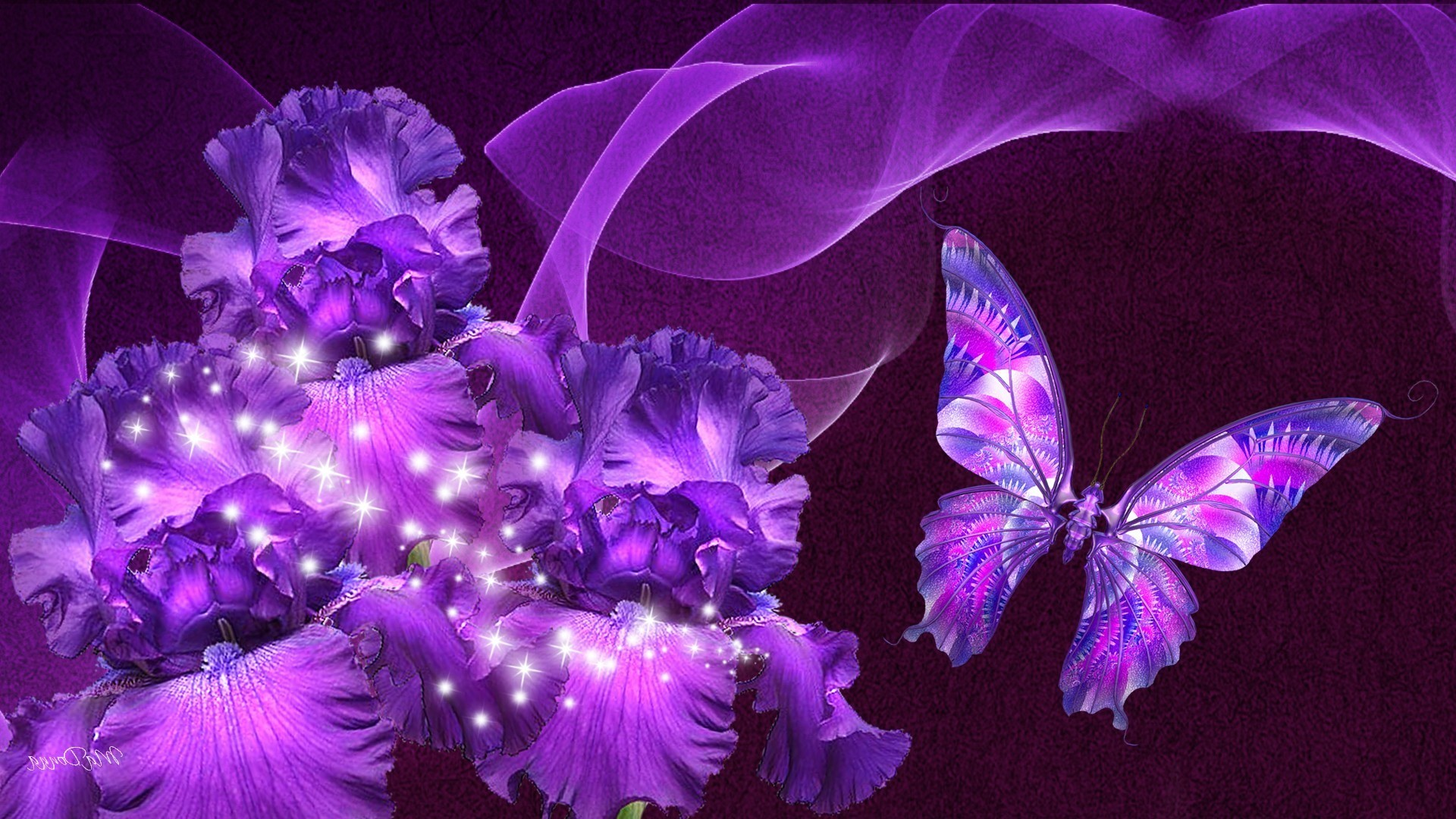 Aninimal Book: Purple Butterfly Wallpaper ·① WallpaperTag