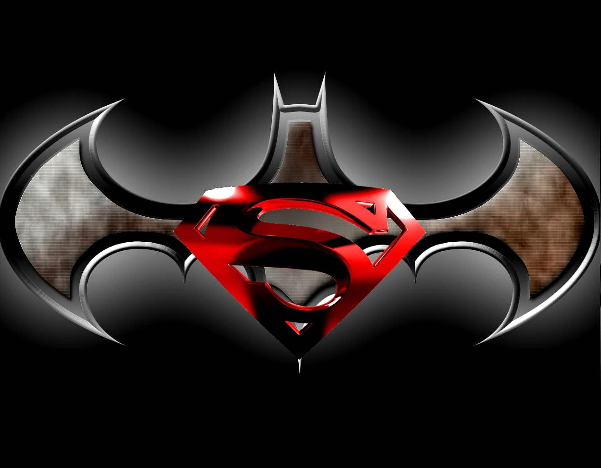 superman and batman logo wallpaper 183��