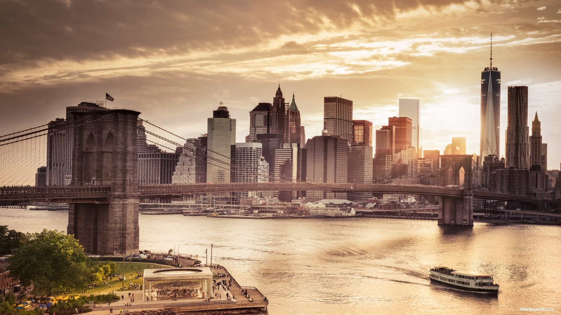 New york skyline wallpaper wallpapertag - New york skyline computer wallpaper ...