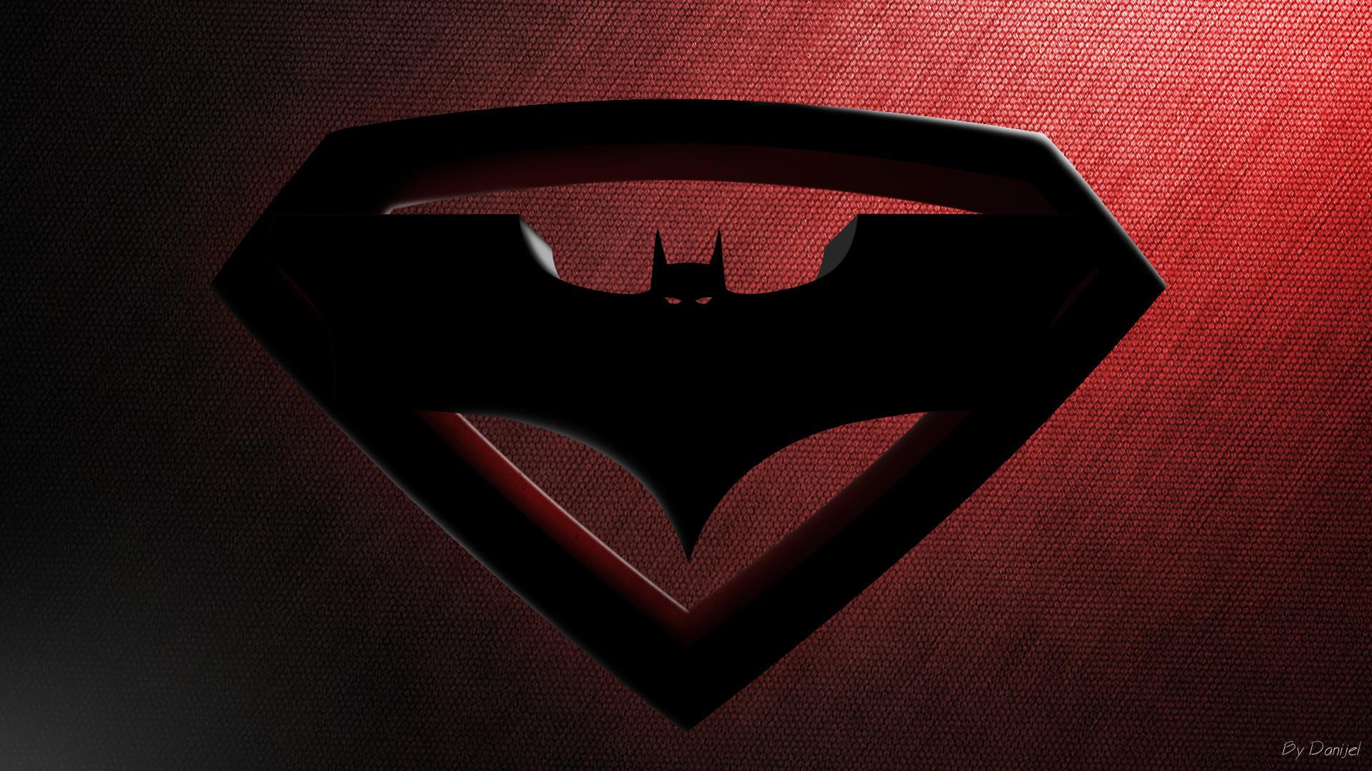 Superman and batman logo wallpaper wallpapers for superman batman logo wallpaper 1920x1080 wallpapers for superman batman logo wallpaper download voltagebd Choice Image