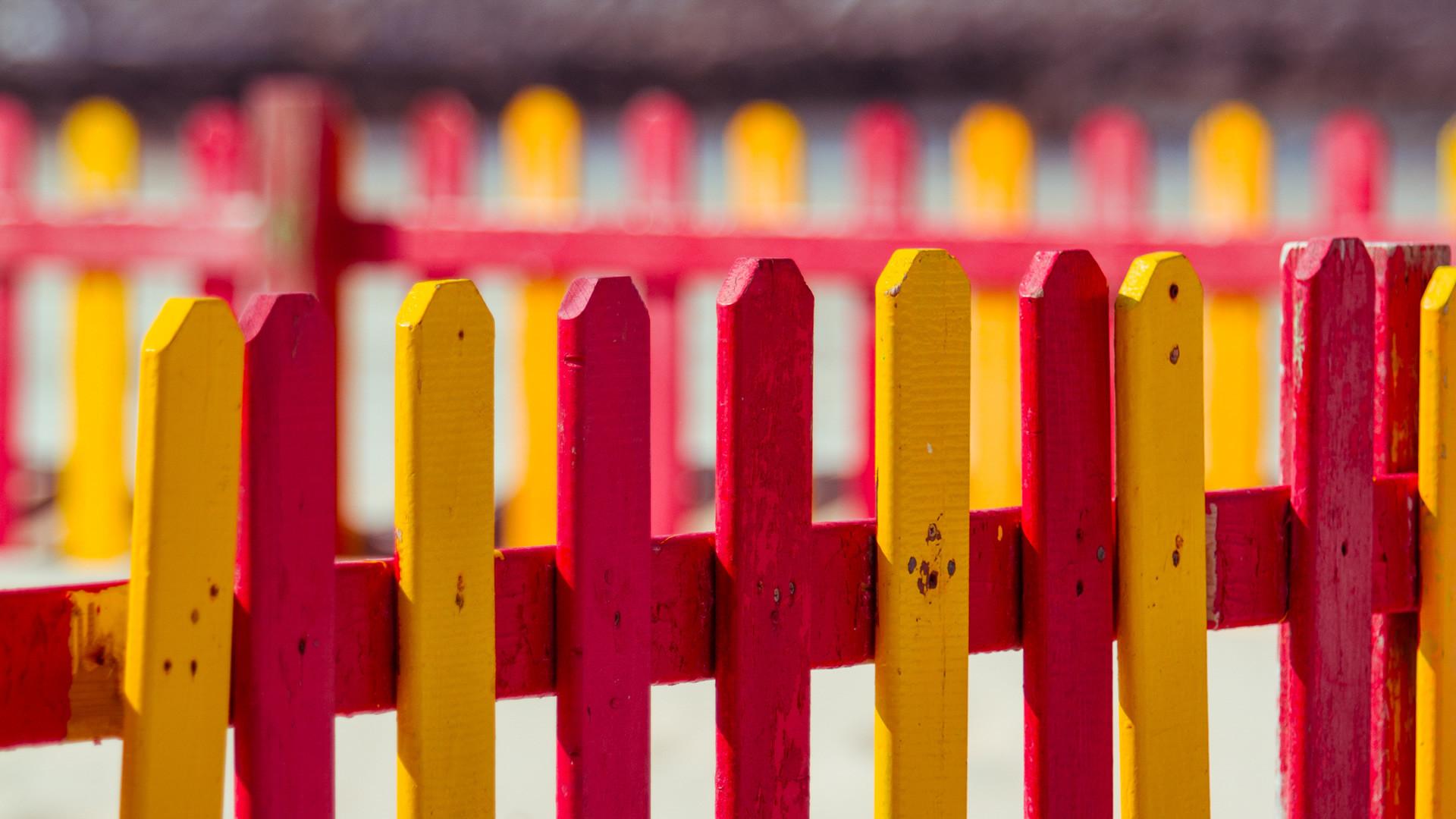 окрашенный забор  № 748036 загрузить