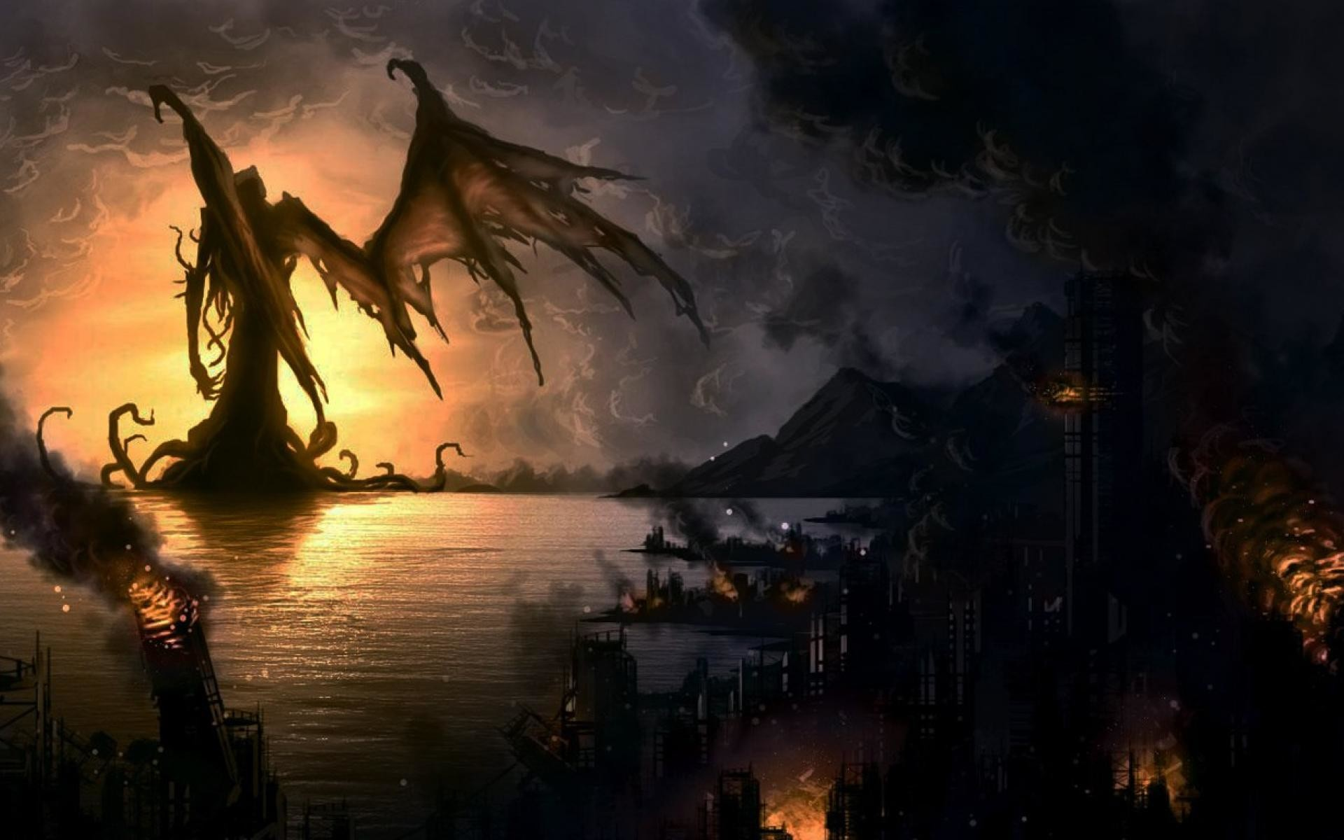 Hp Lovecraft Art Wallpapers: Cthulhu Wallpapers ·① WallpaperTag