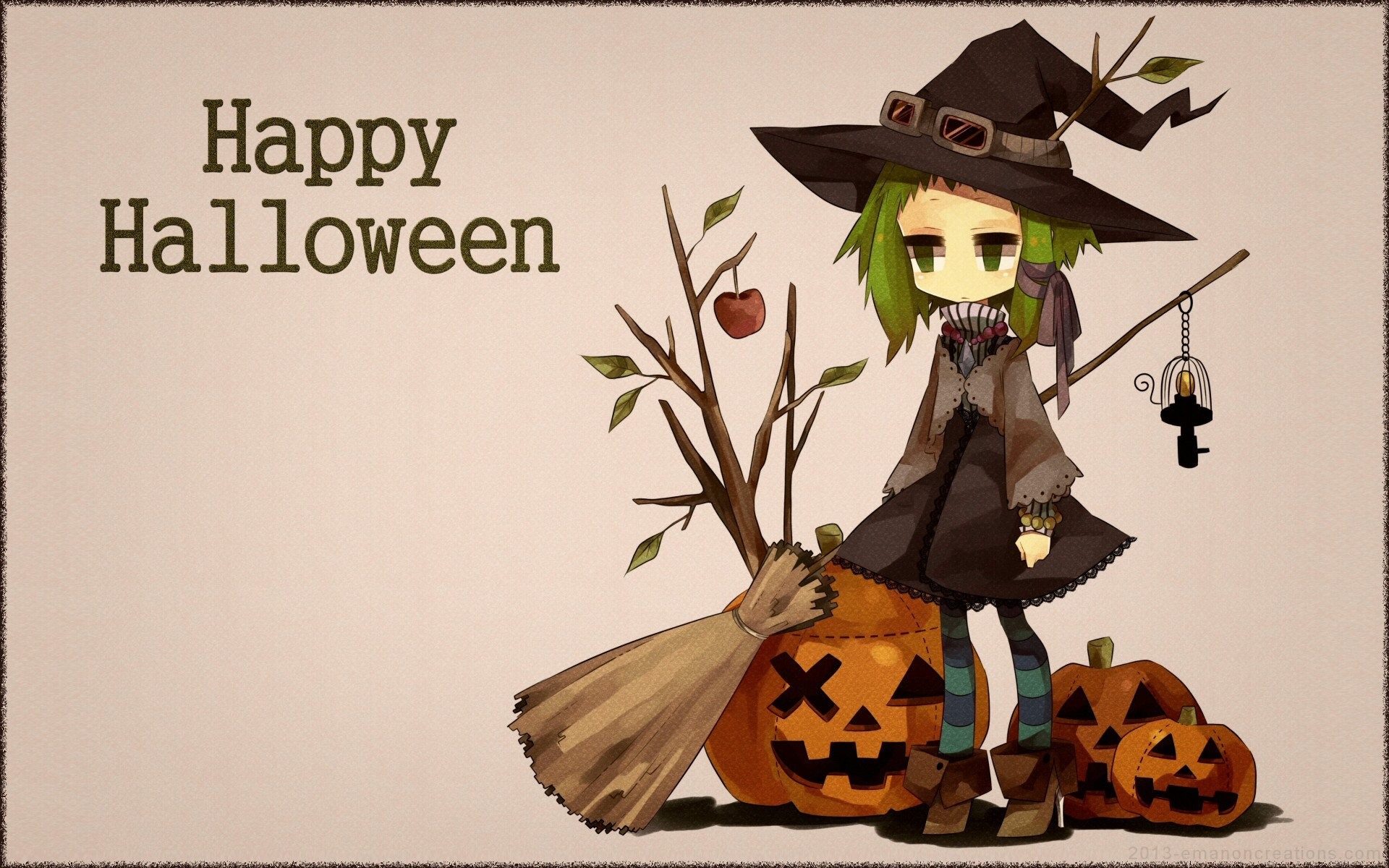 happy halloween anime wide screen wwwtopsimagescom