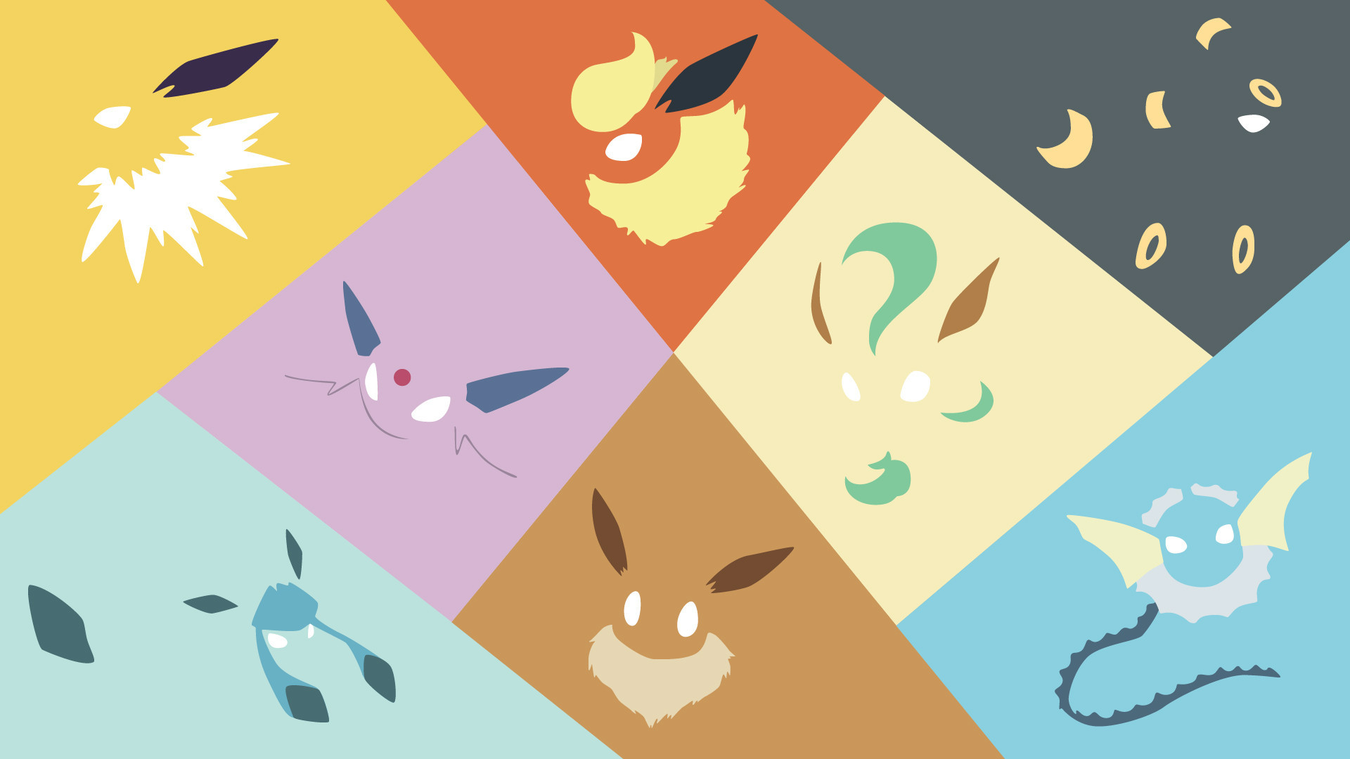 Eevee Evolutions Wallpaper ·â'