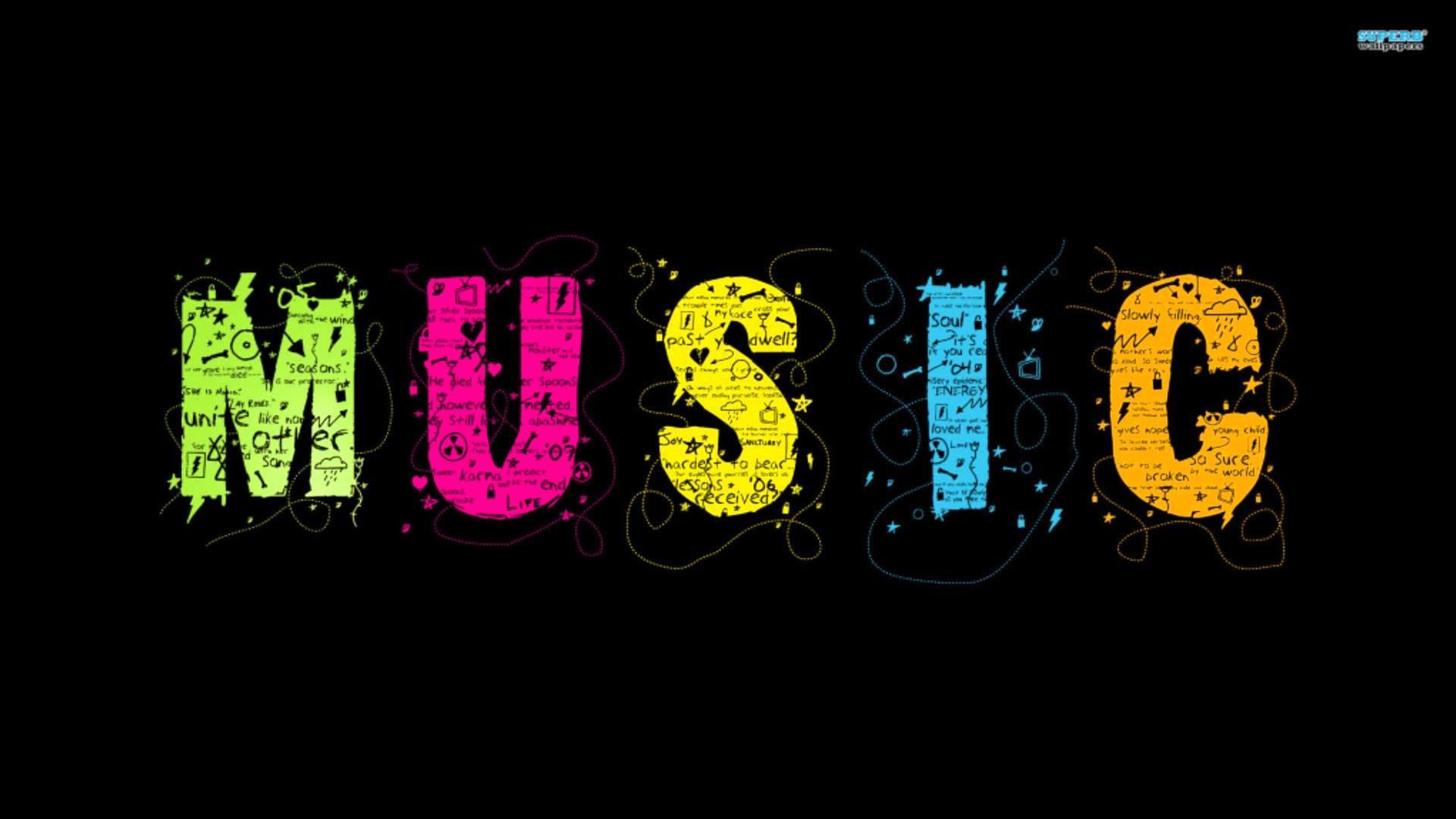 Надпись музыка в картинках