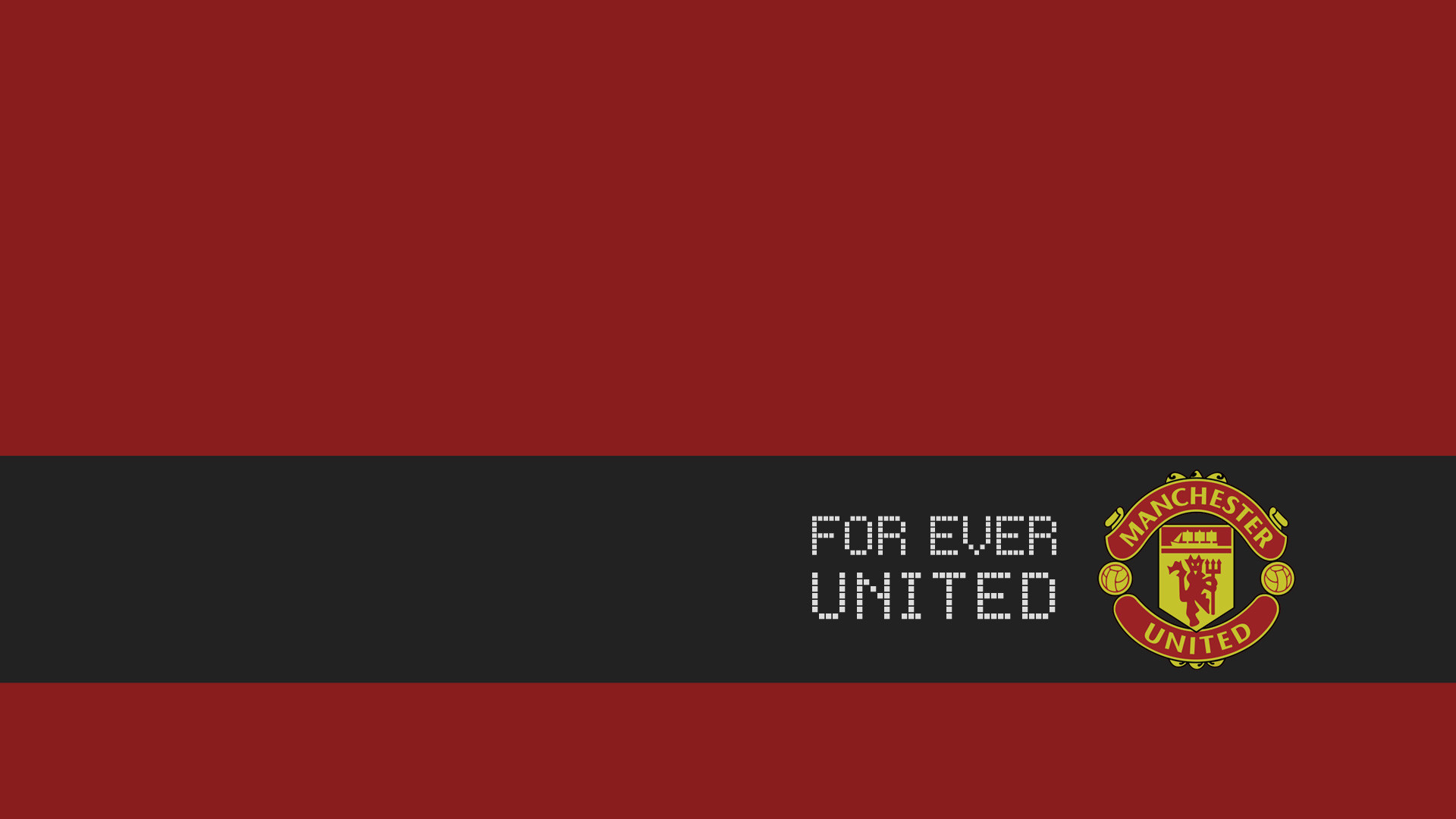 1920x1200 Manchester United black wallpaper with logo - 1920x1200