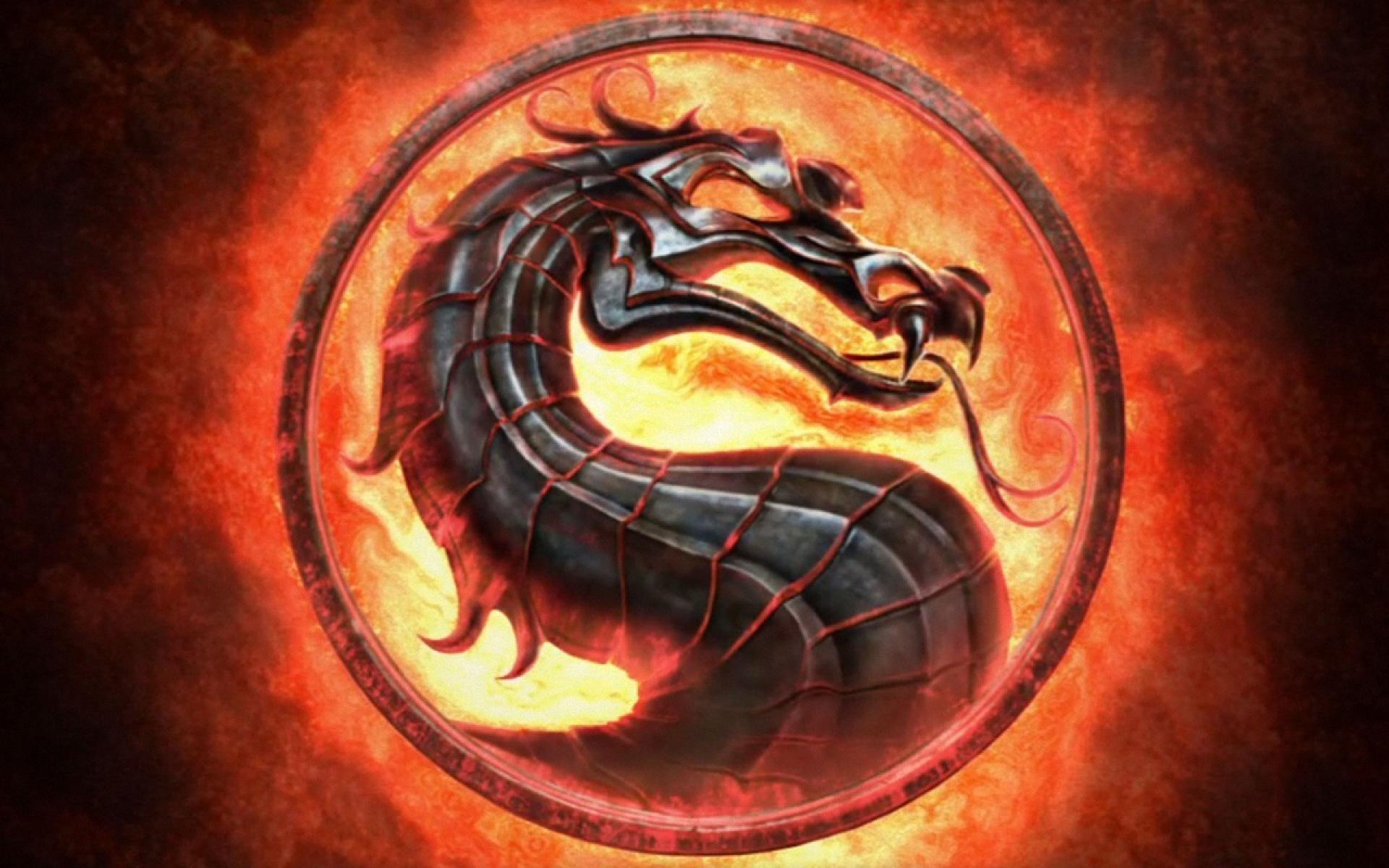 mortal kombat dragon logo wallpaper hd ·①