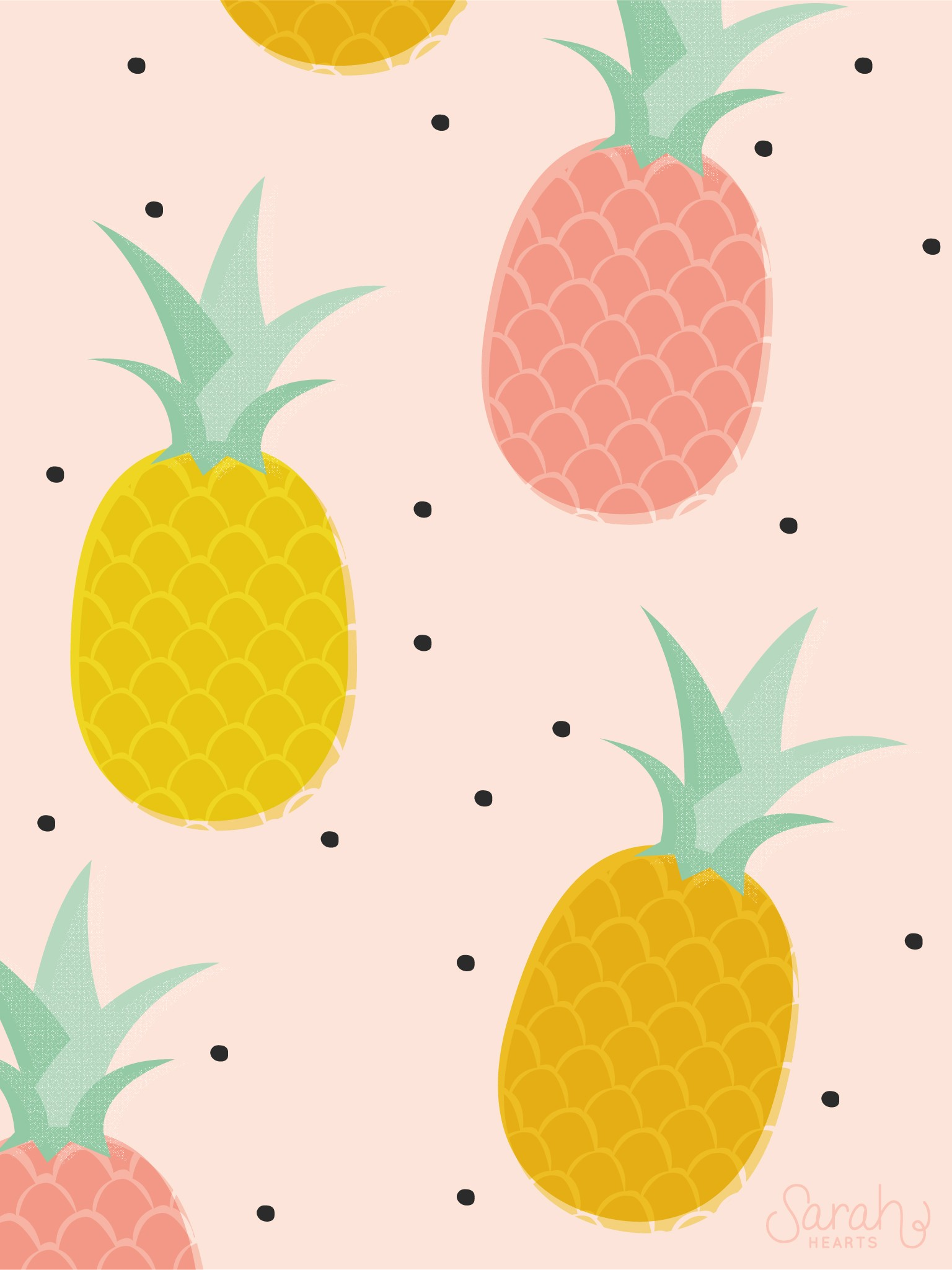Wallpaper iphone pineapple - Pineapple Wallpaper 1536x2049 For Iphone 6 1536x2049