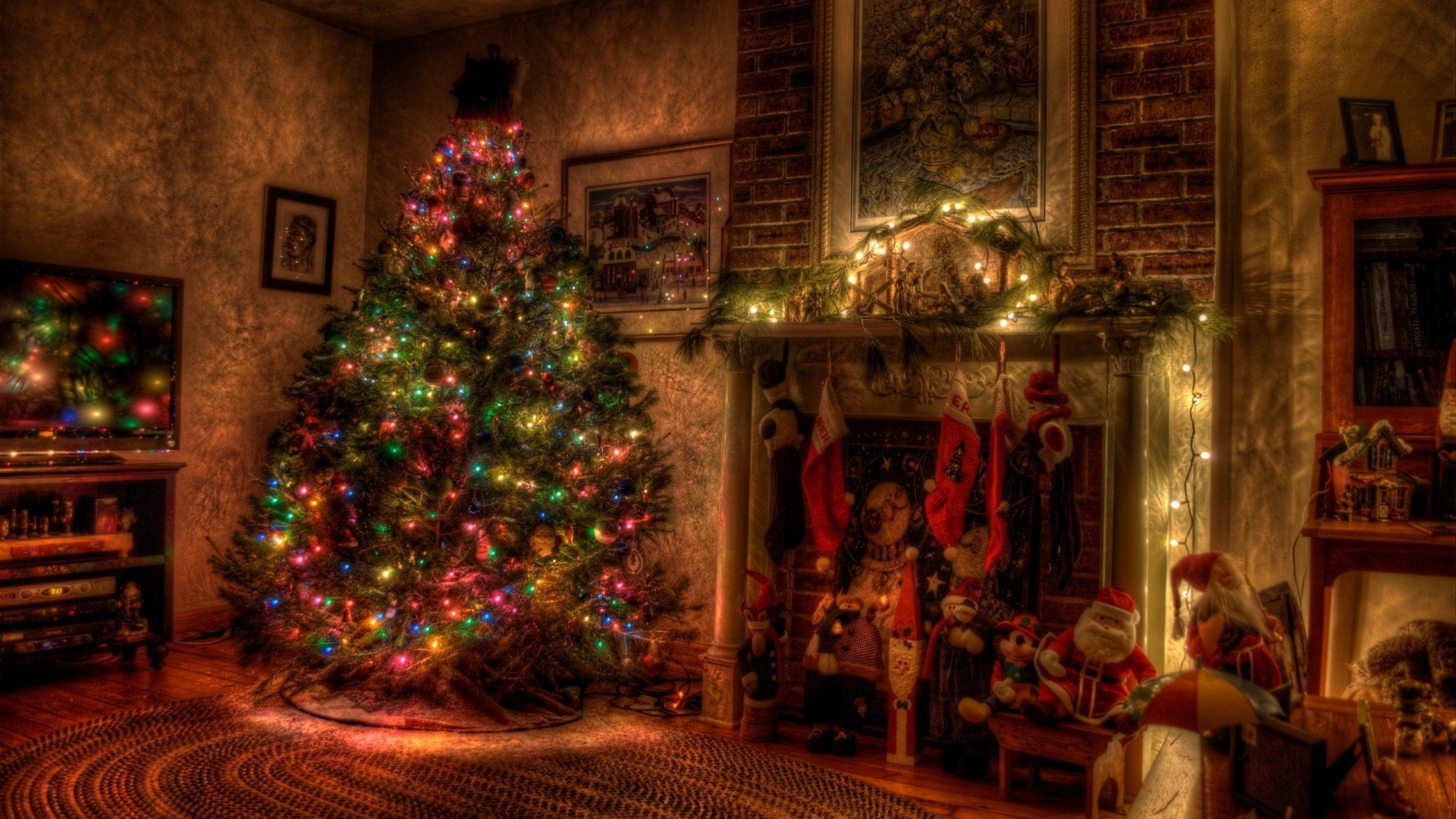 old fashion christmas wallpaper free - photo #17
