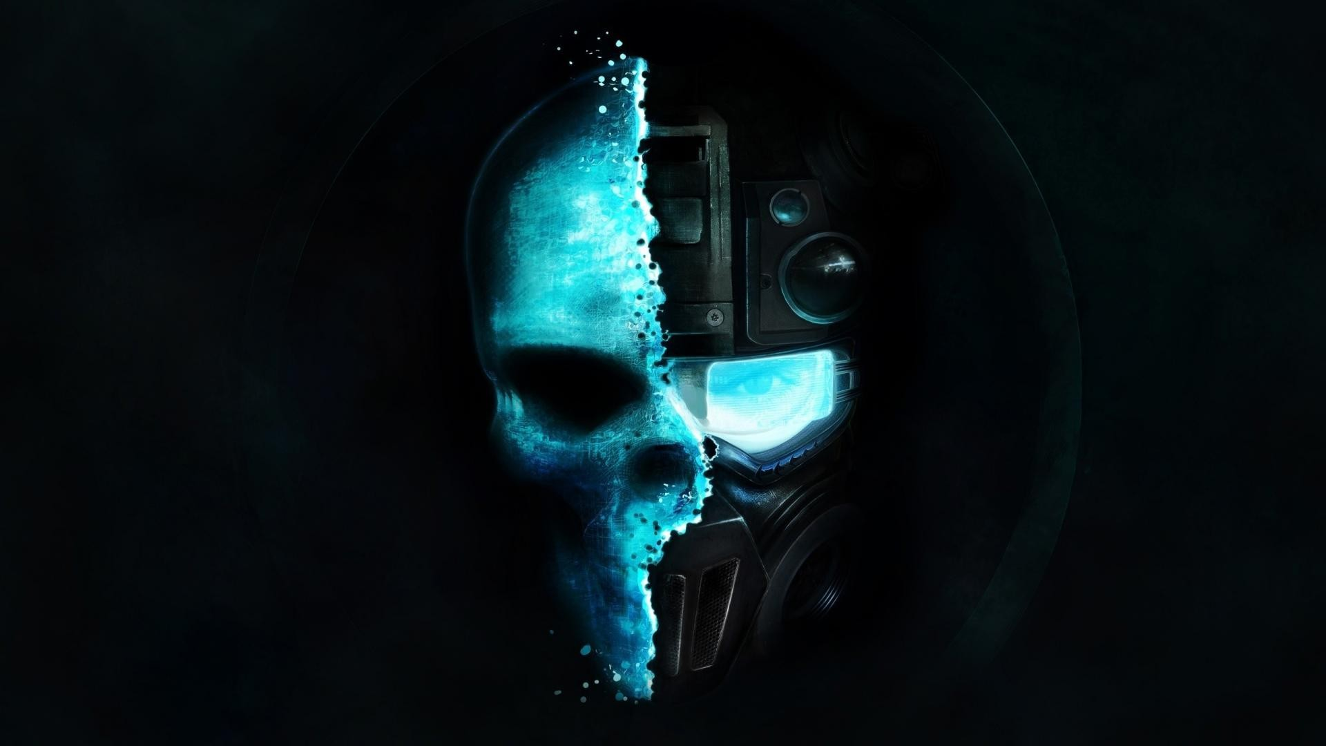 1920x1080 download black and blue half skull hd wallpapers wallpaper for any of your devices from our