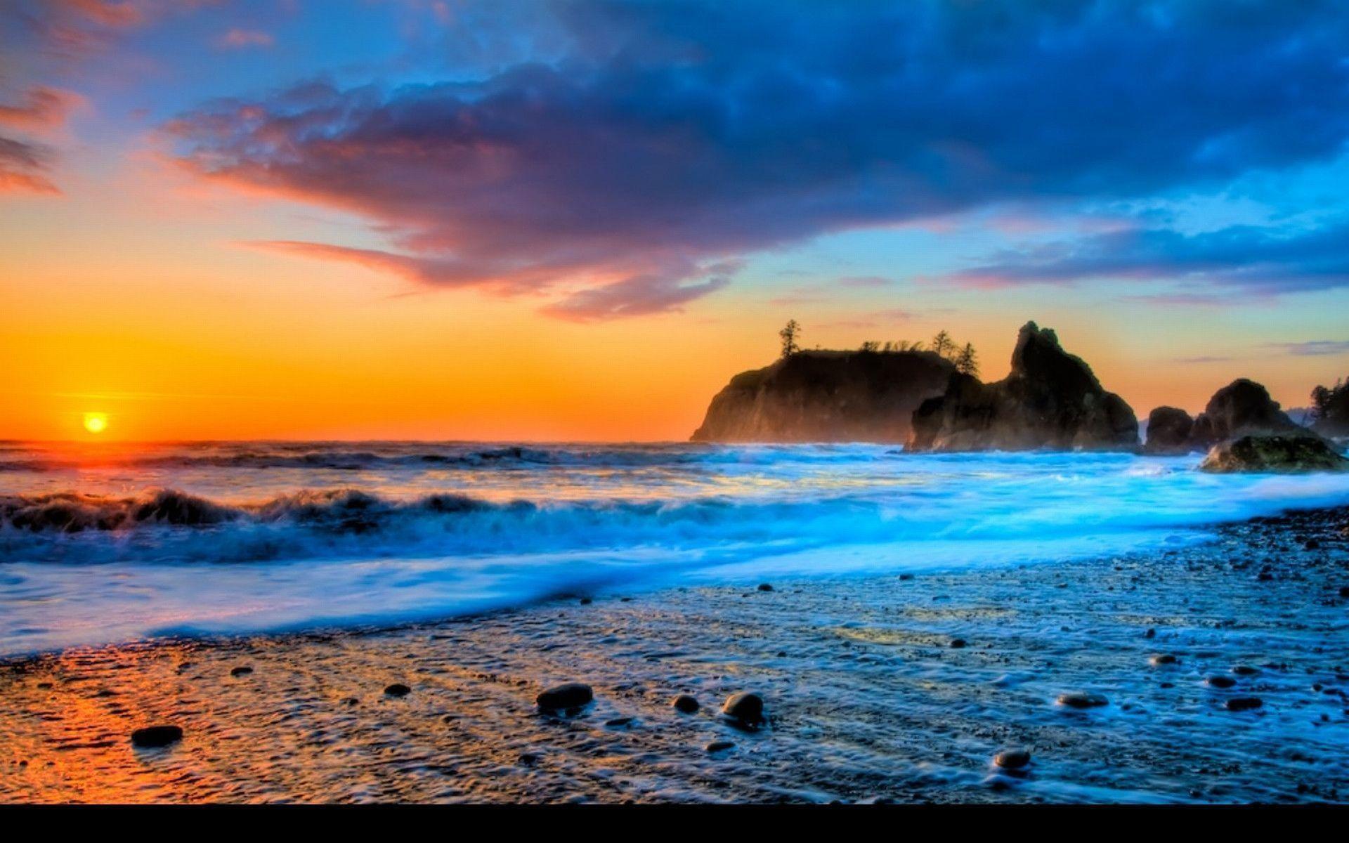 sunset beaches wallpaper ·①