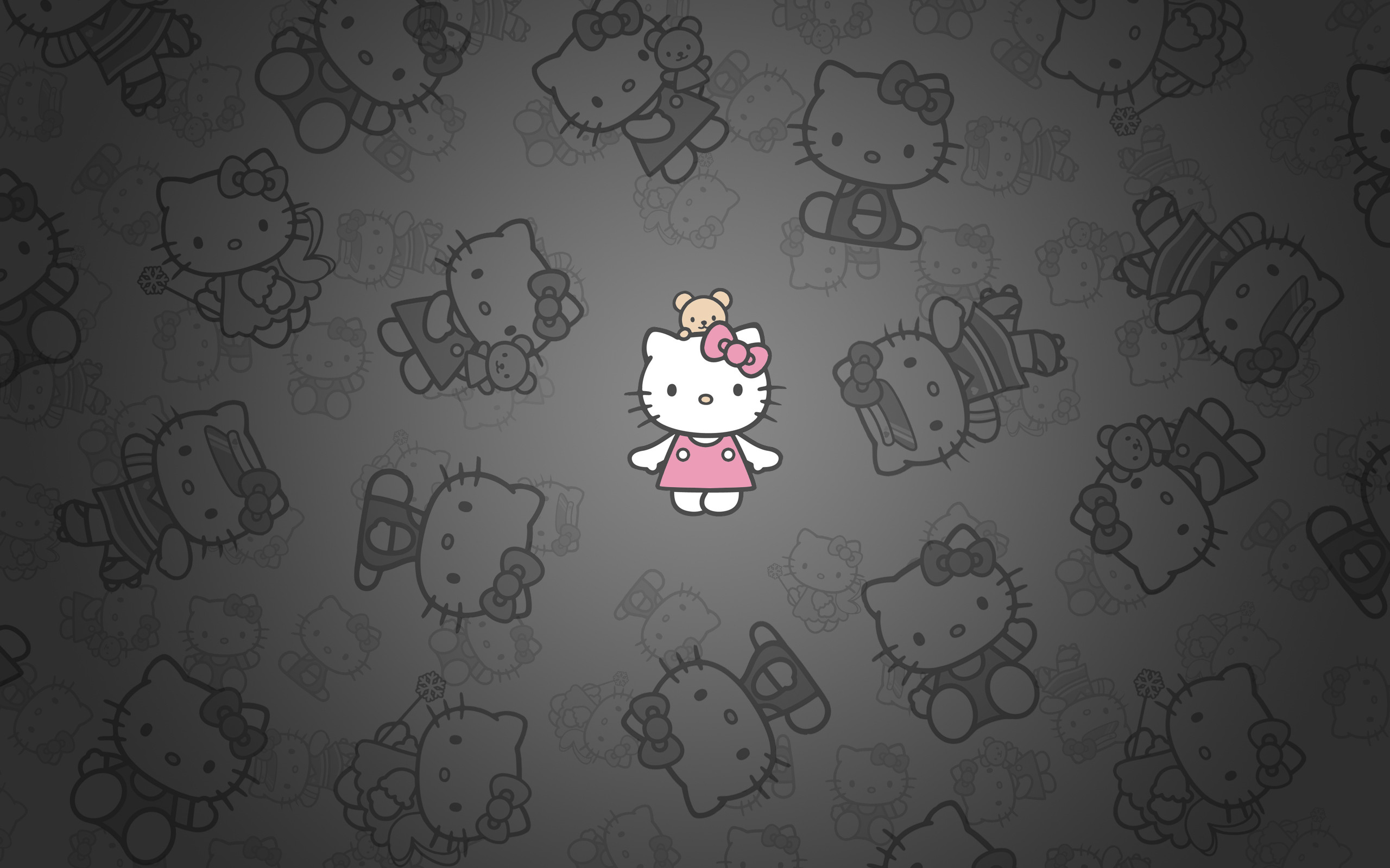Hello Kitty Black and Pink Wallpaper ·① WallpaperTag