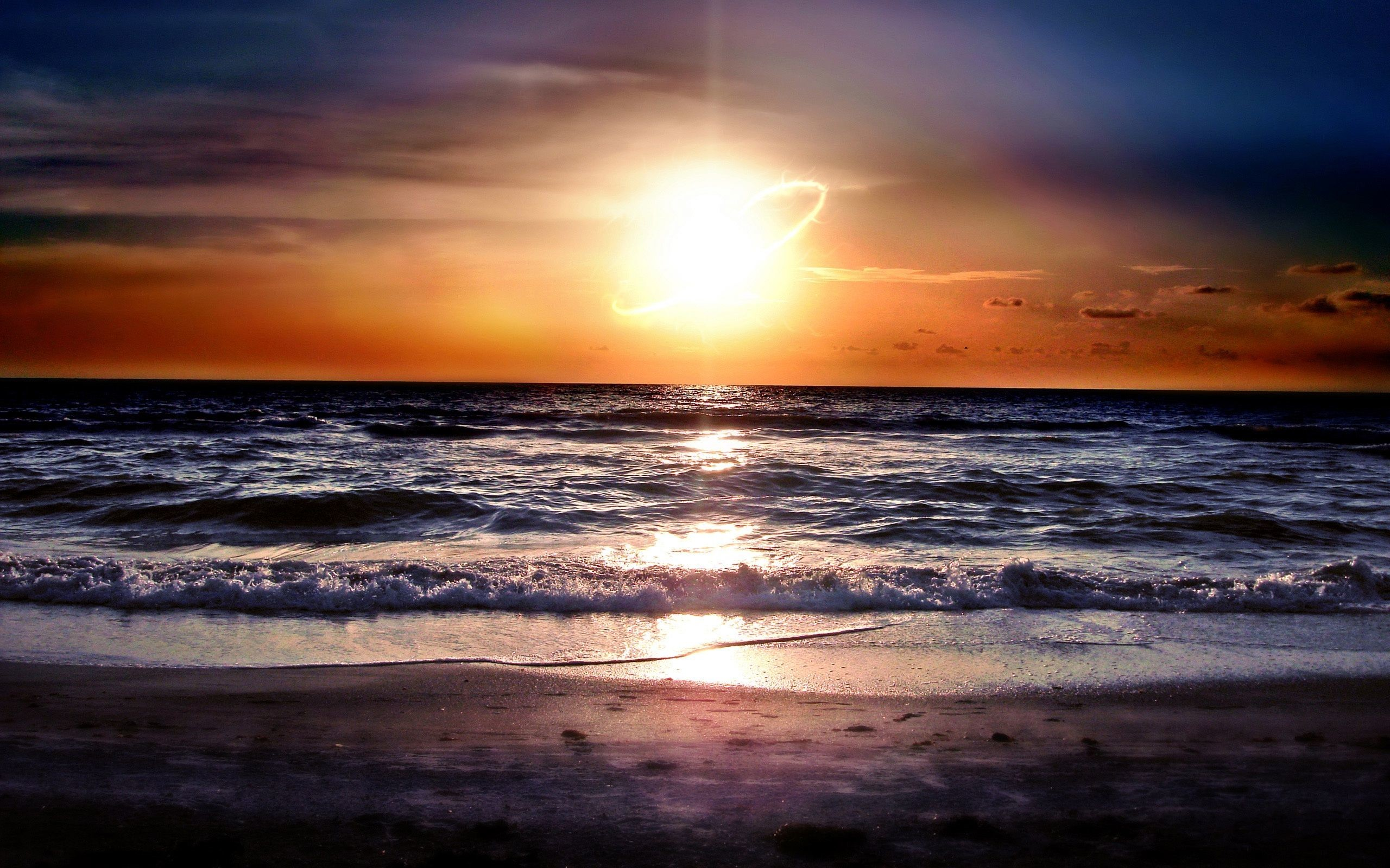 Ocean Sunset Wallpaper 1