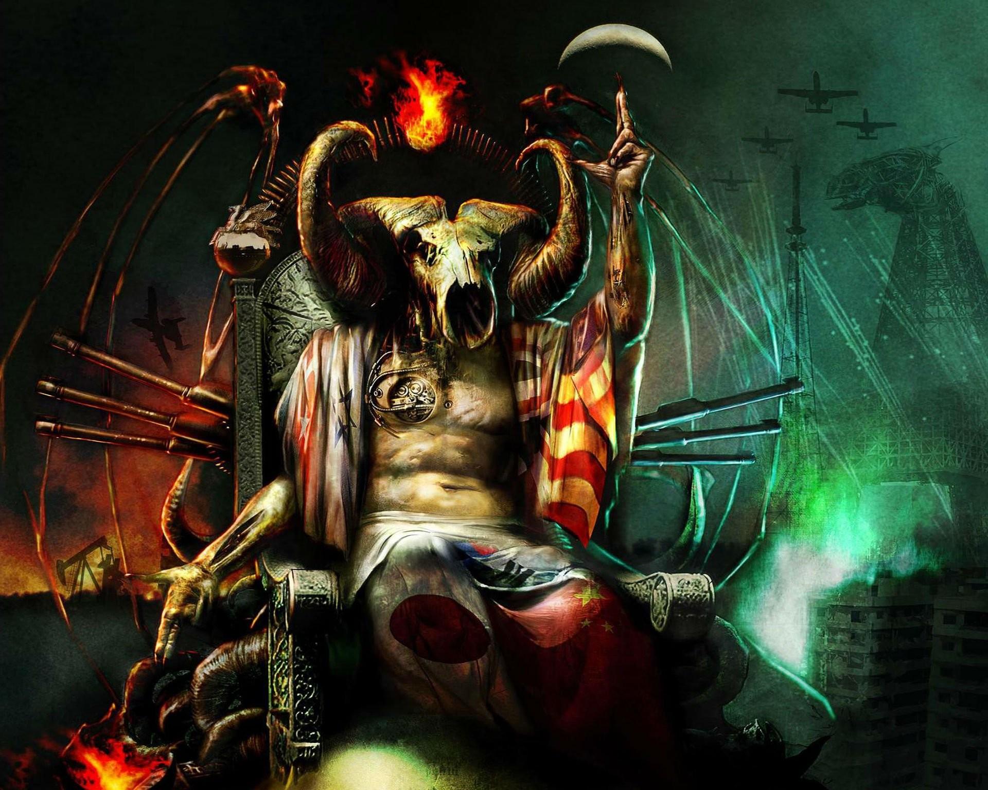 evil demon skulls wallpaper - photo #37