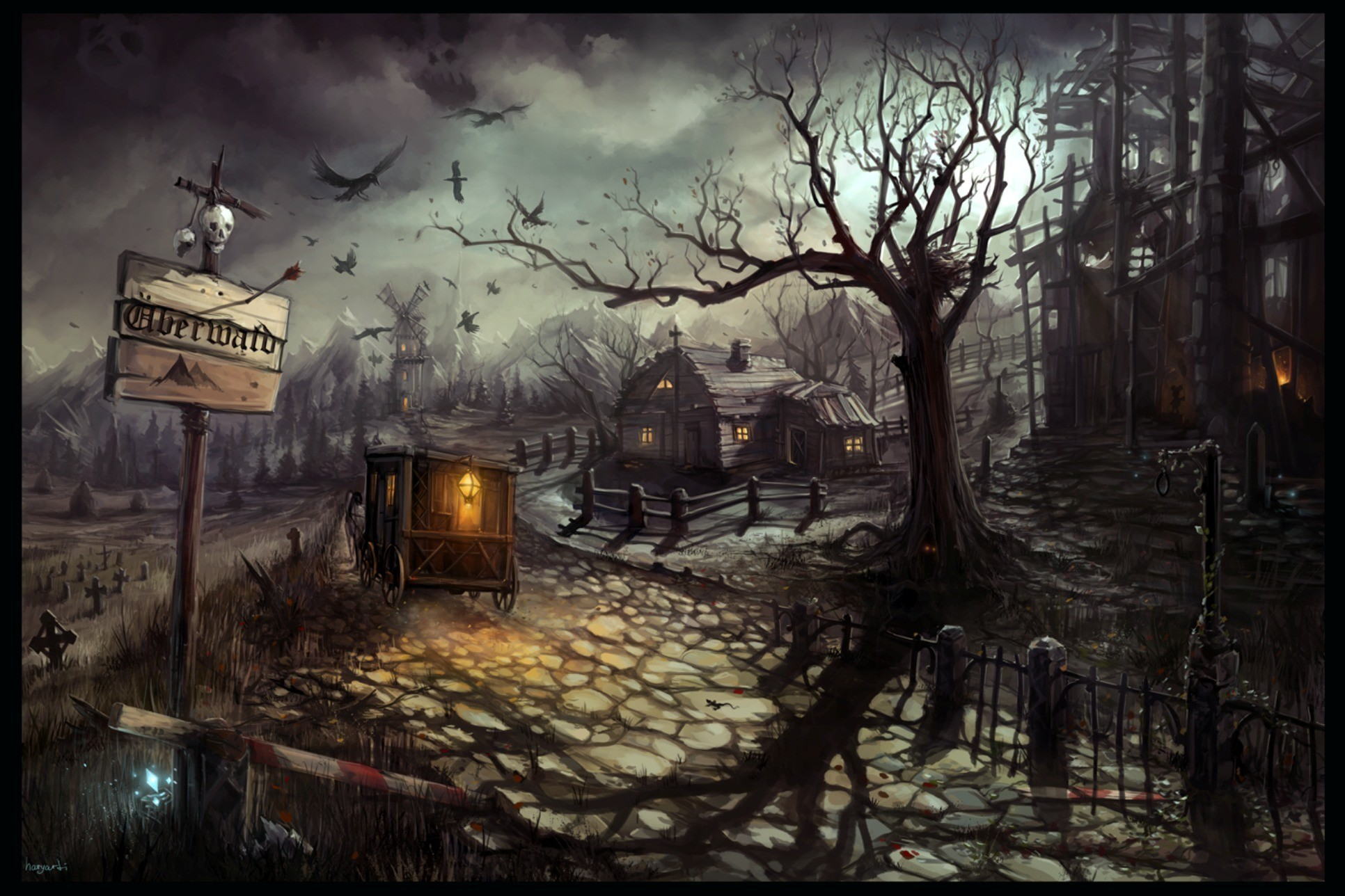 haunted background desktop wallpapers backgrounds computer android iphone wallpapertag ipad resolution