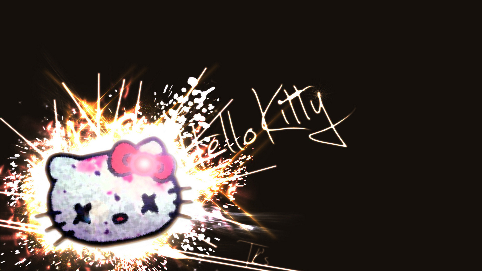 Black Hello Kitty Background ·① WallpaperTag