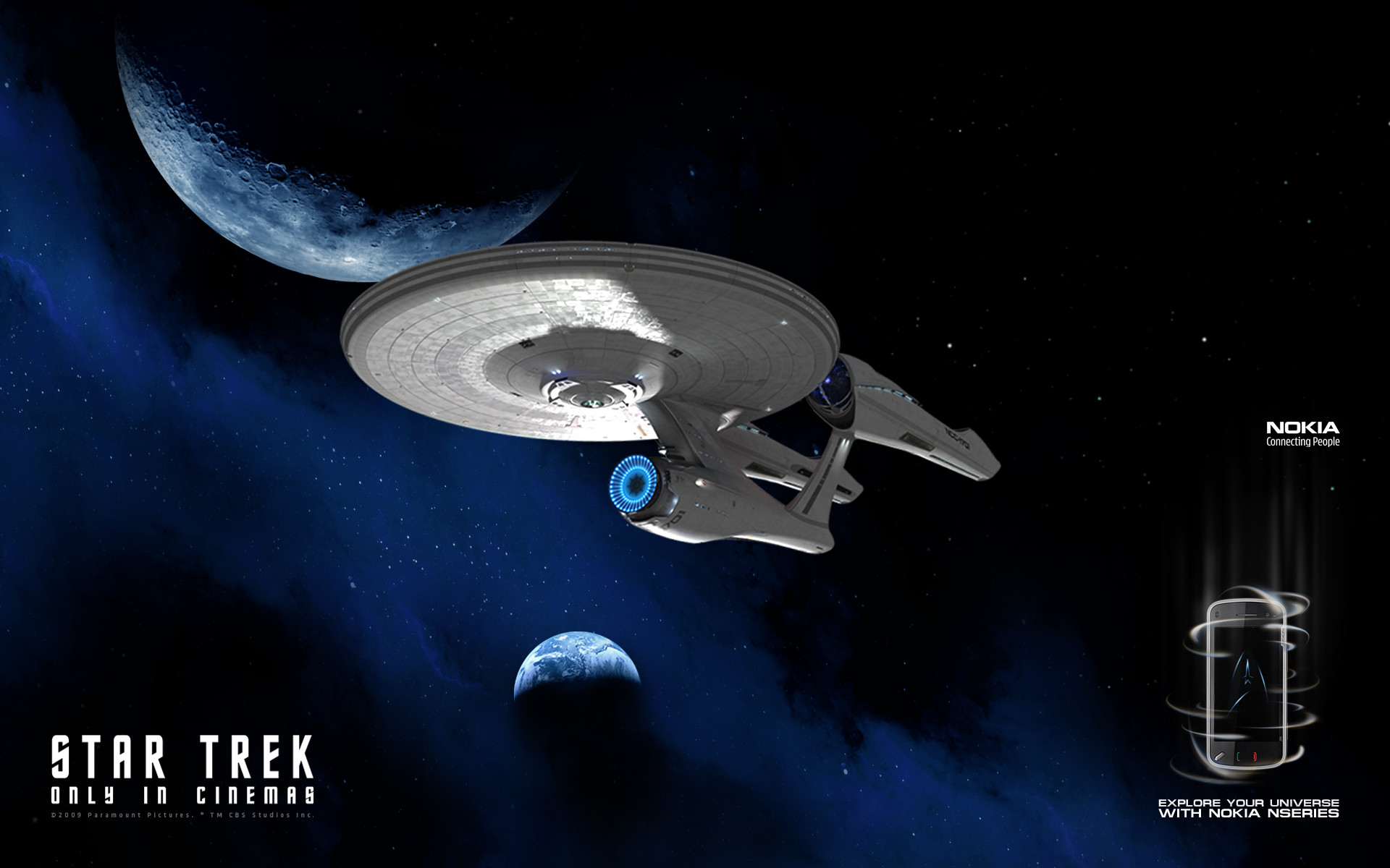 Star Trek 2009 Enterprise Wallpaper 1