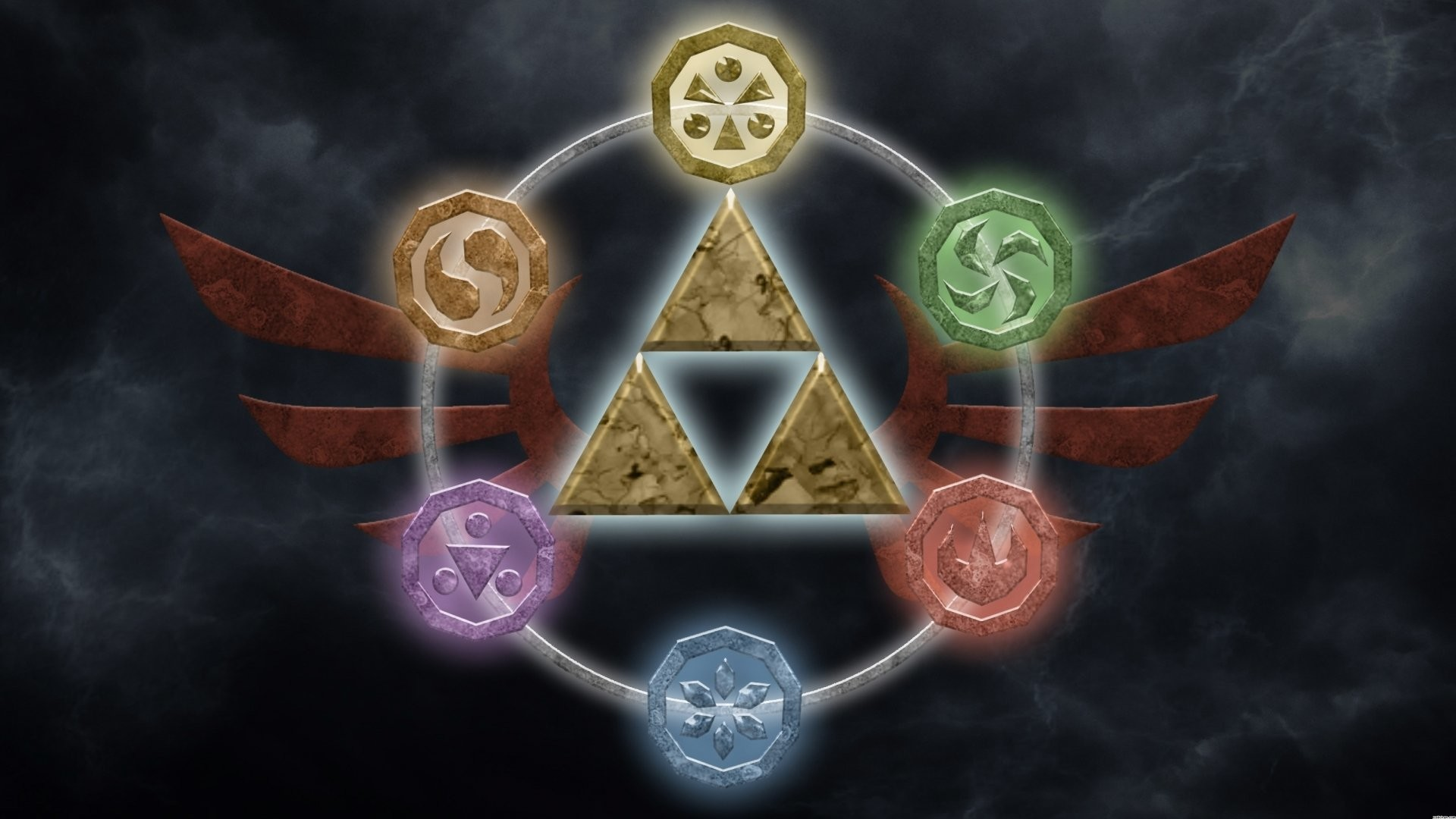 Zelda Ocarina Of Time Wallpaper Triforce Wallpapertag