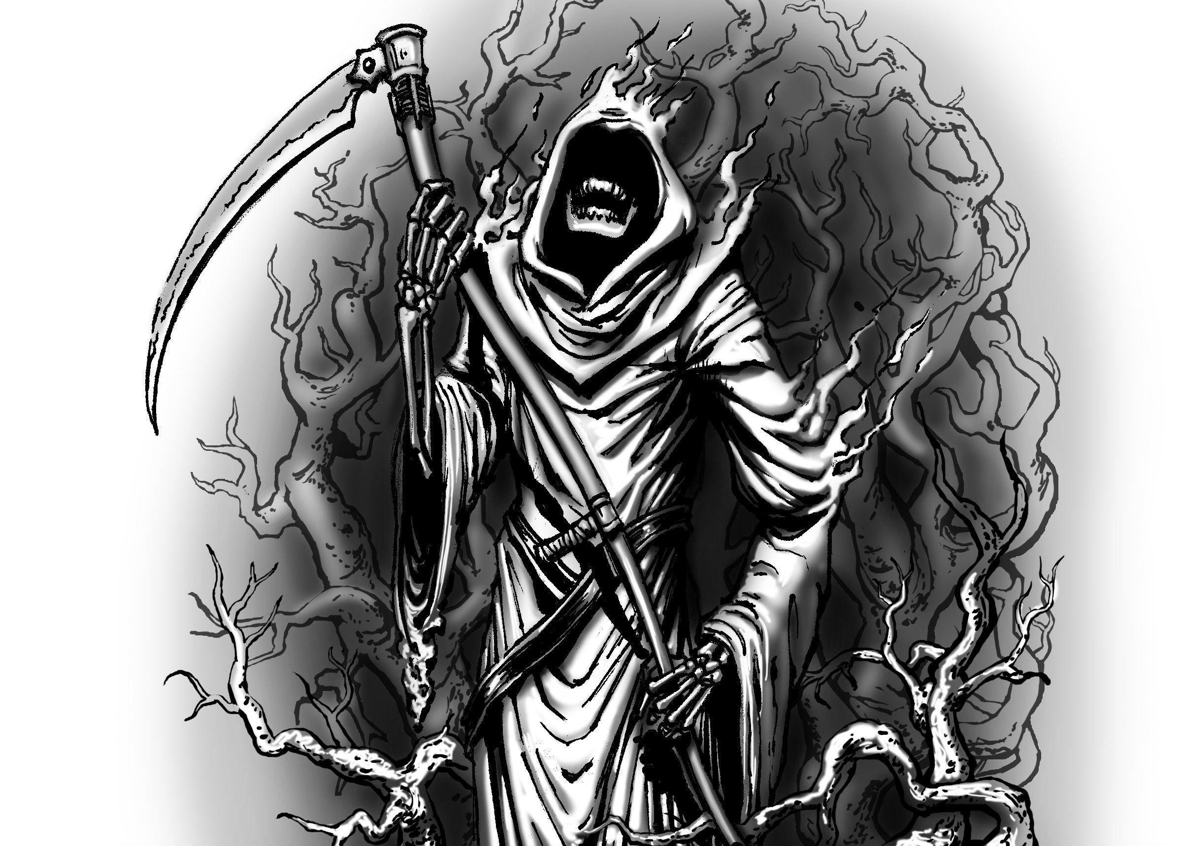 фэнтези графика женщина Grim Reaper  № 3256256 бесплатно