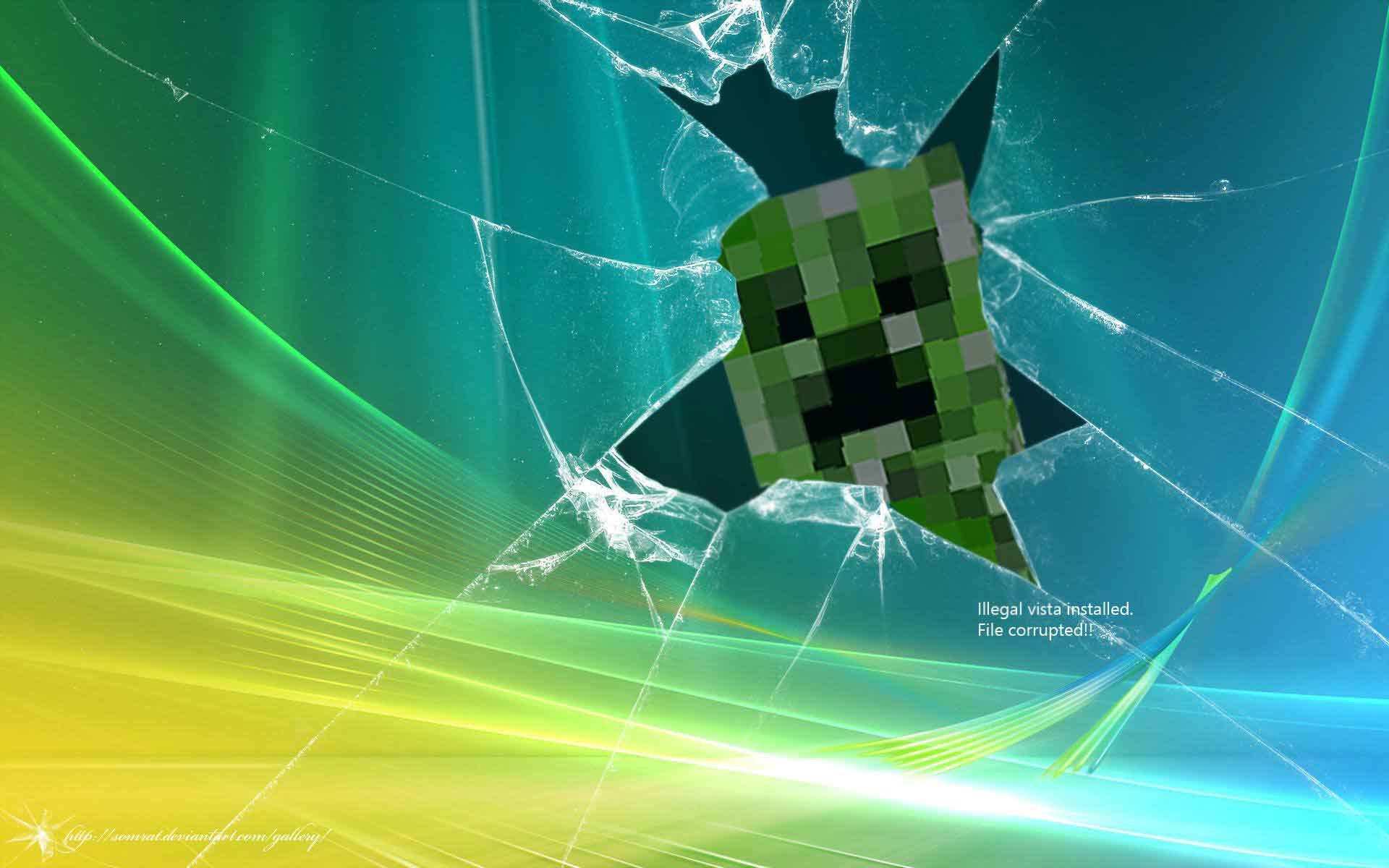 minecraft creeper desktop backgrounds wallpaper cave
