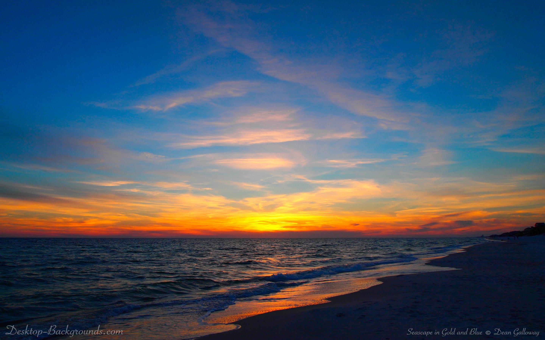 золотистый закат над морем  № 184468 загрузить