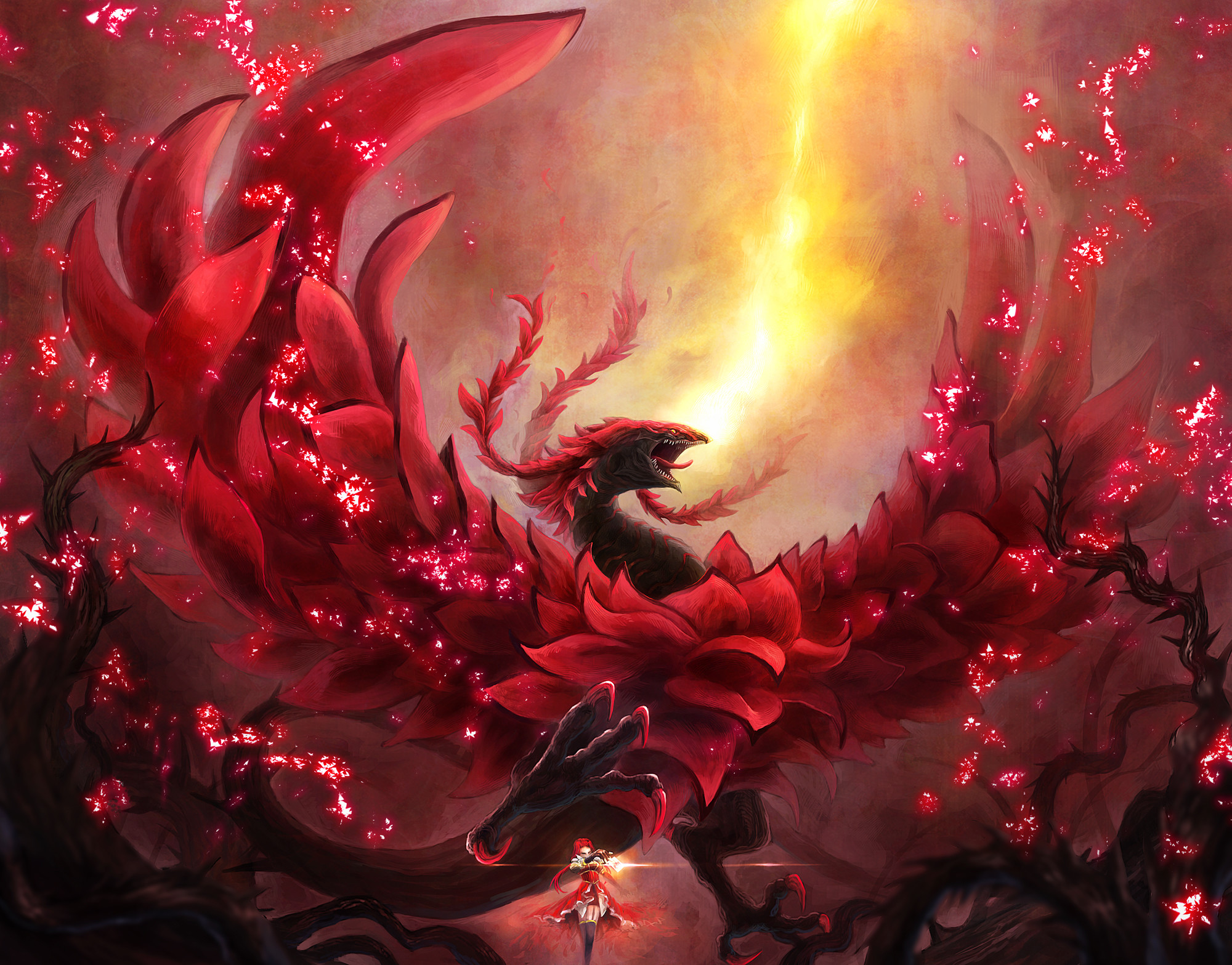 Black Rose Dragon Wallpaper ·① WallpaperTag