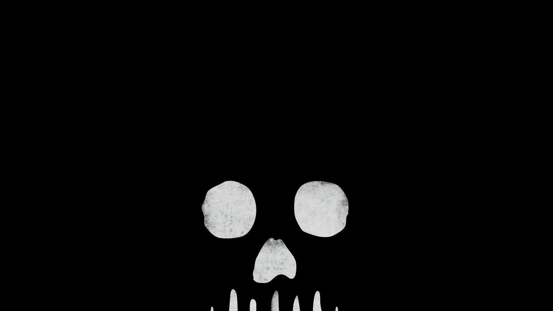Skull Black Background Wallpapertag