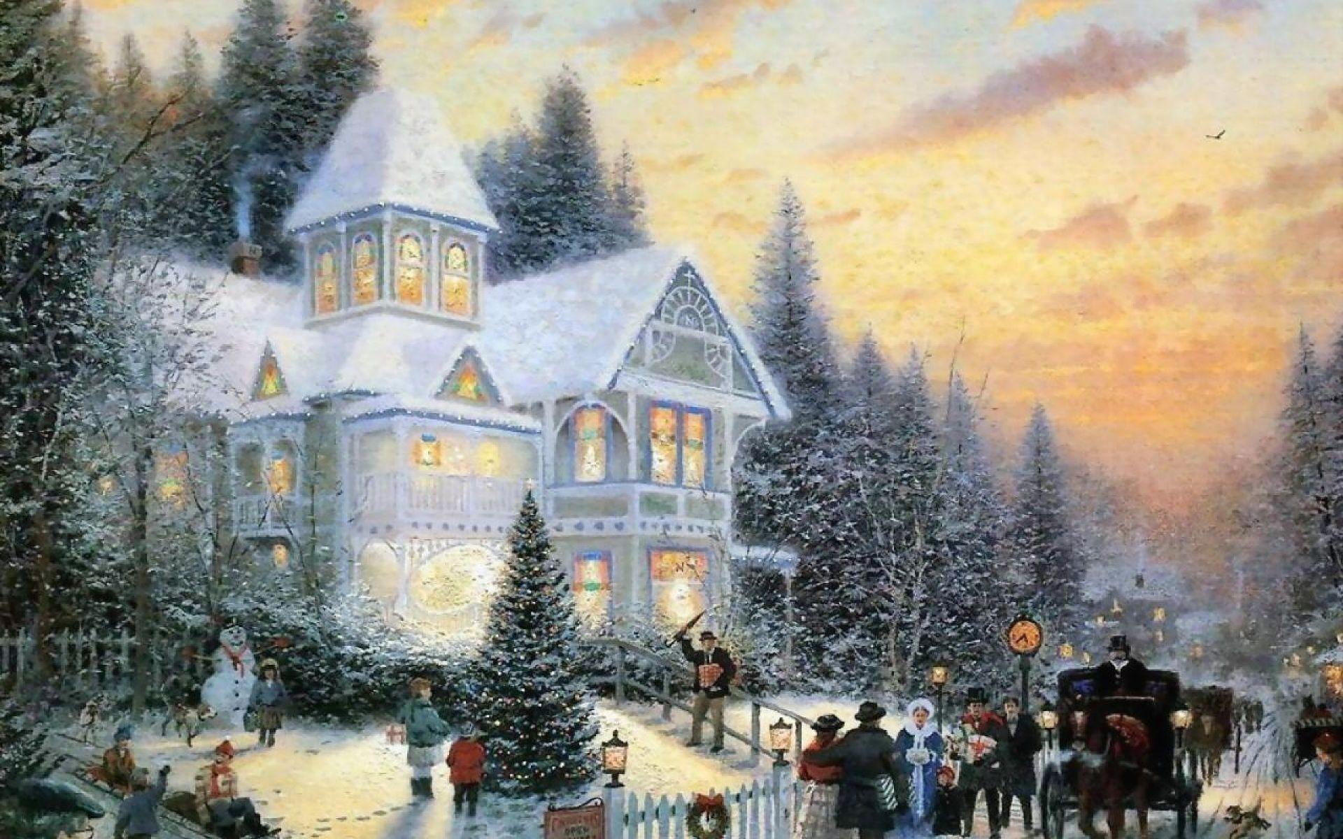 Рождественские открытки кинкейд