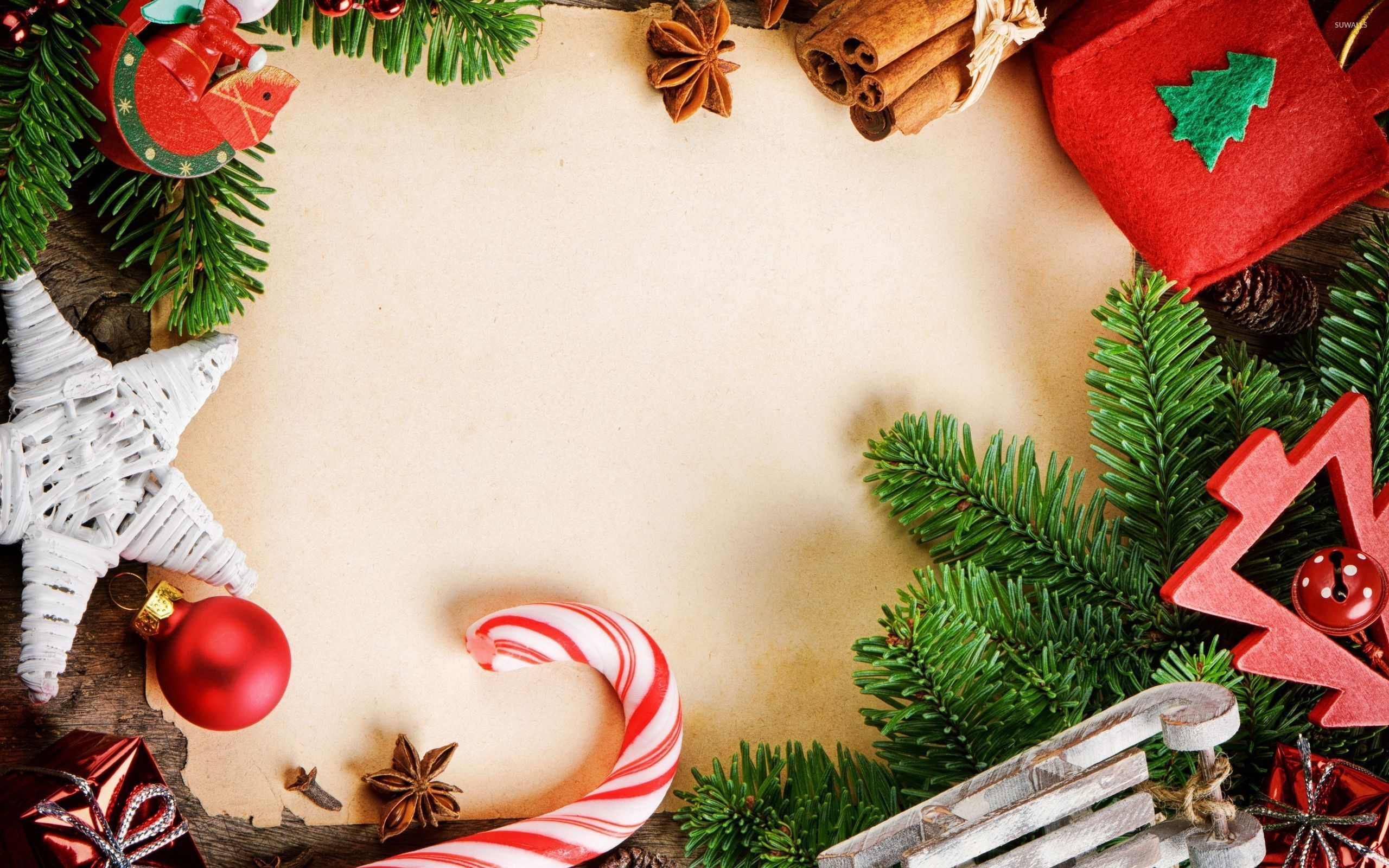 Christmas Decorations Wallpaper ·①