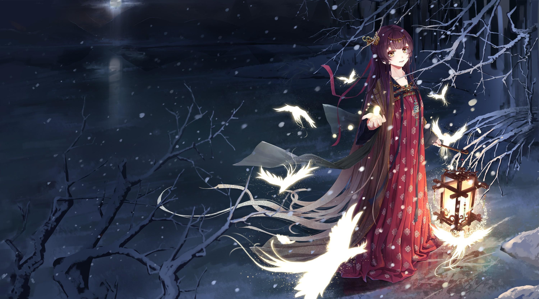 X Anime Winter Scenery Wallpaper