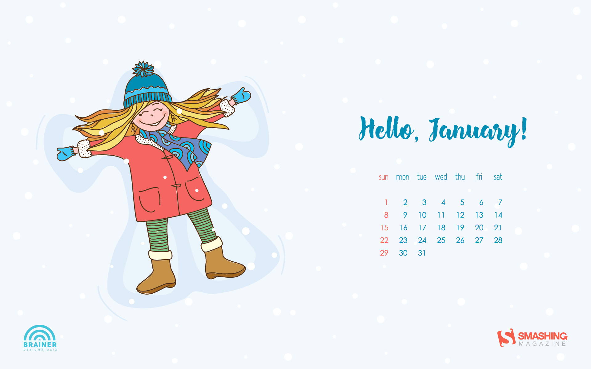 Cute January Calendar Wallpaper : Wallpapers with calendar ·①