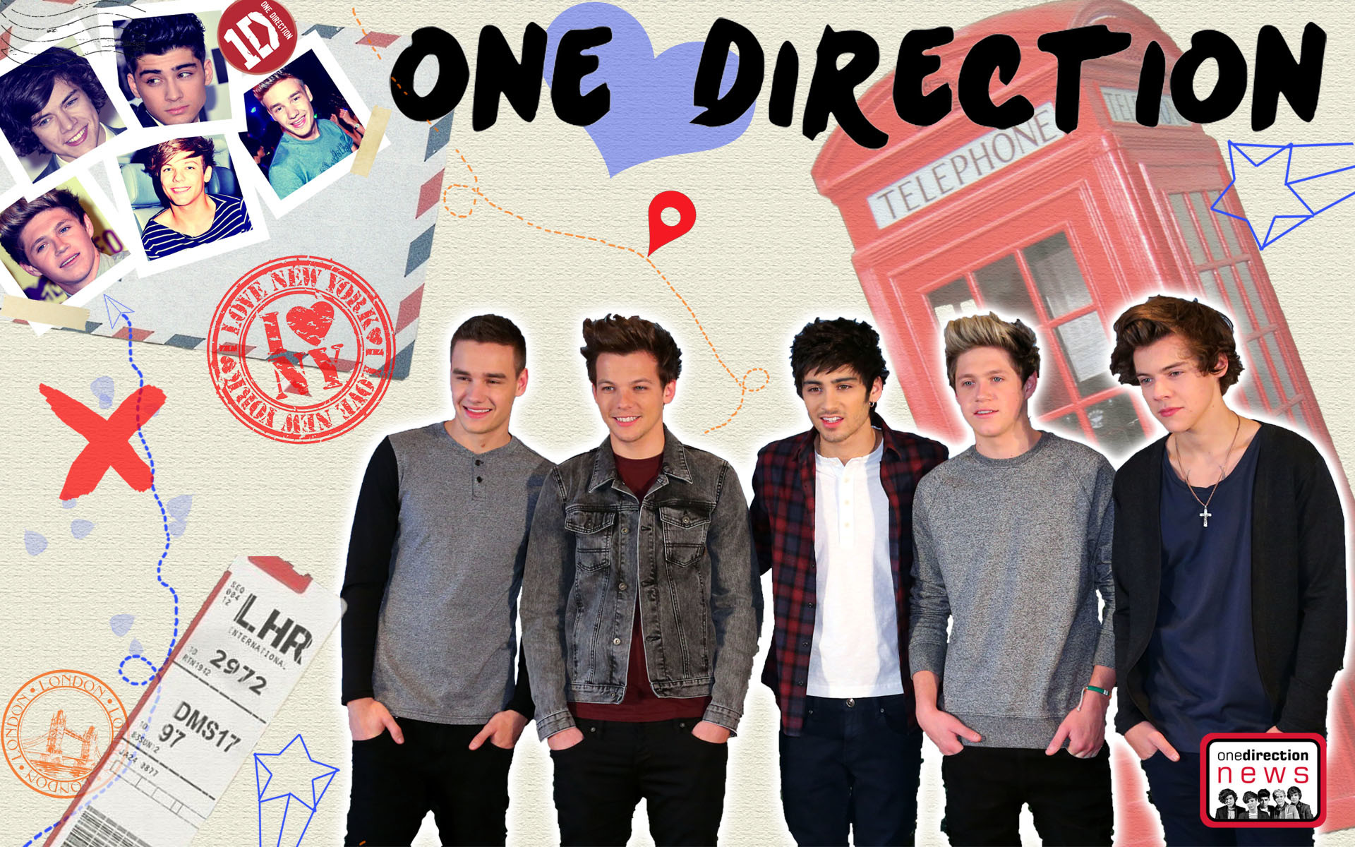 One Direction Backgrounds Wallpapertag