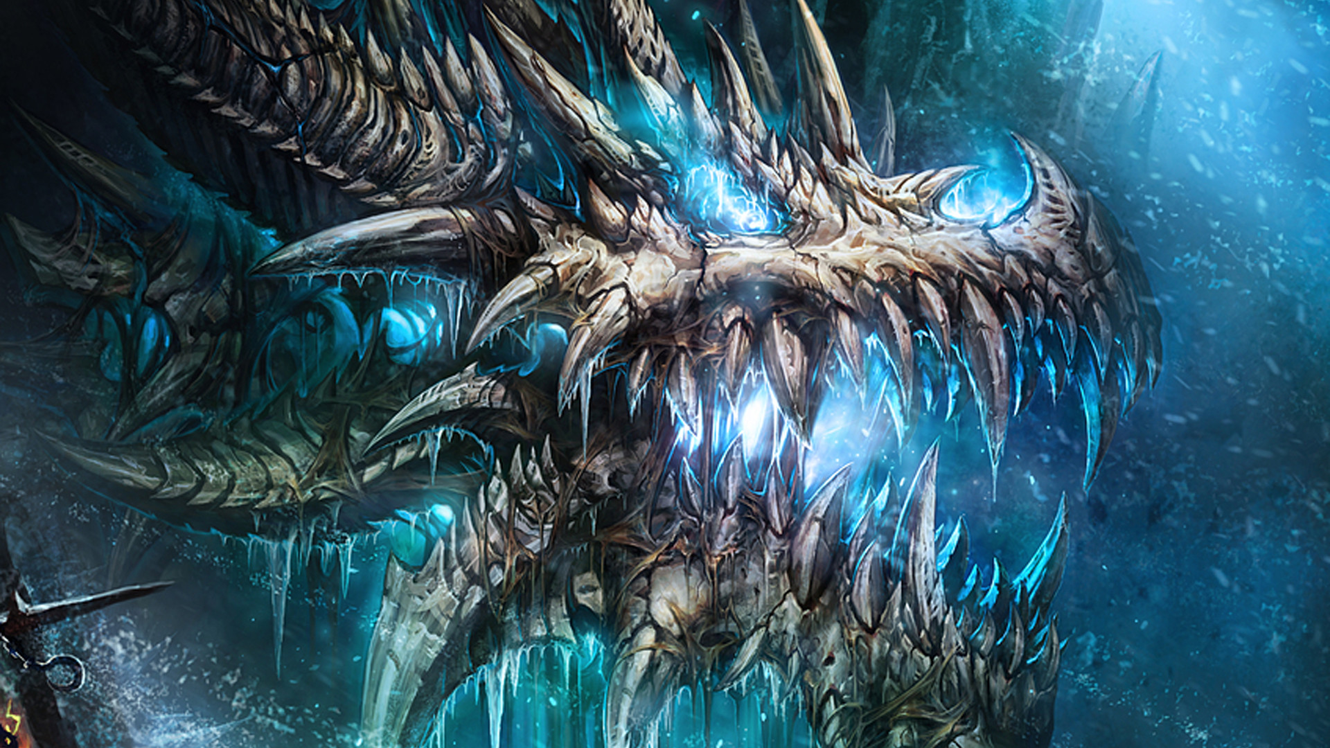 Cool blue dragon wallpaper wallpapertag - Dragon backgrounds 1920x1080 ...