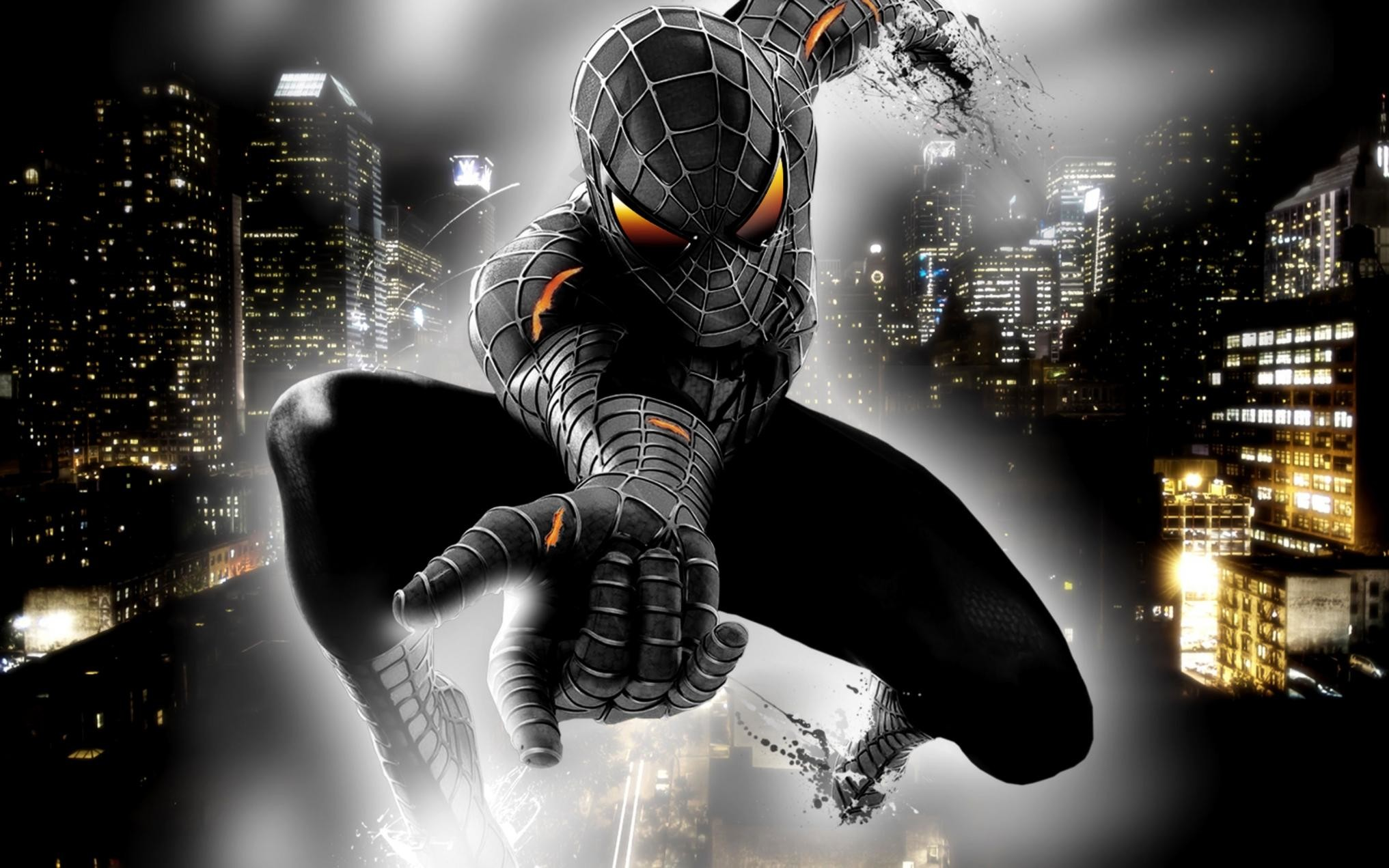 10 Top Spider Man 2099 Wallpaper Full Hd 1080p For Pc Desktop: Black Spider Man Wallpapers ·① WallpaperTag