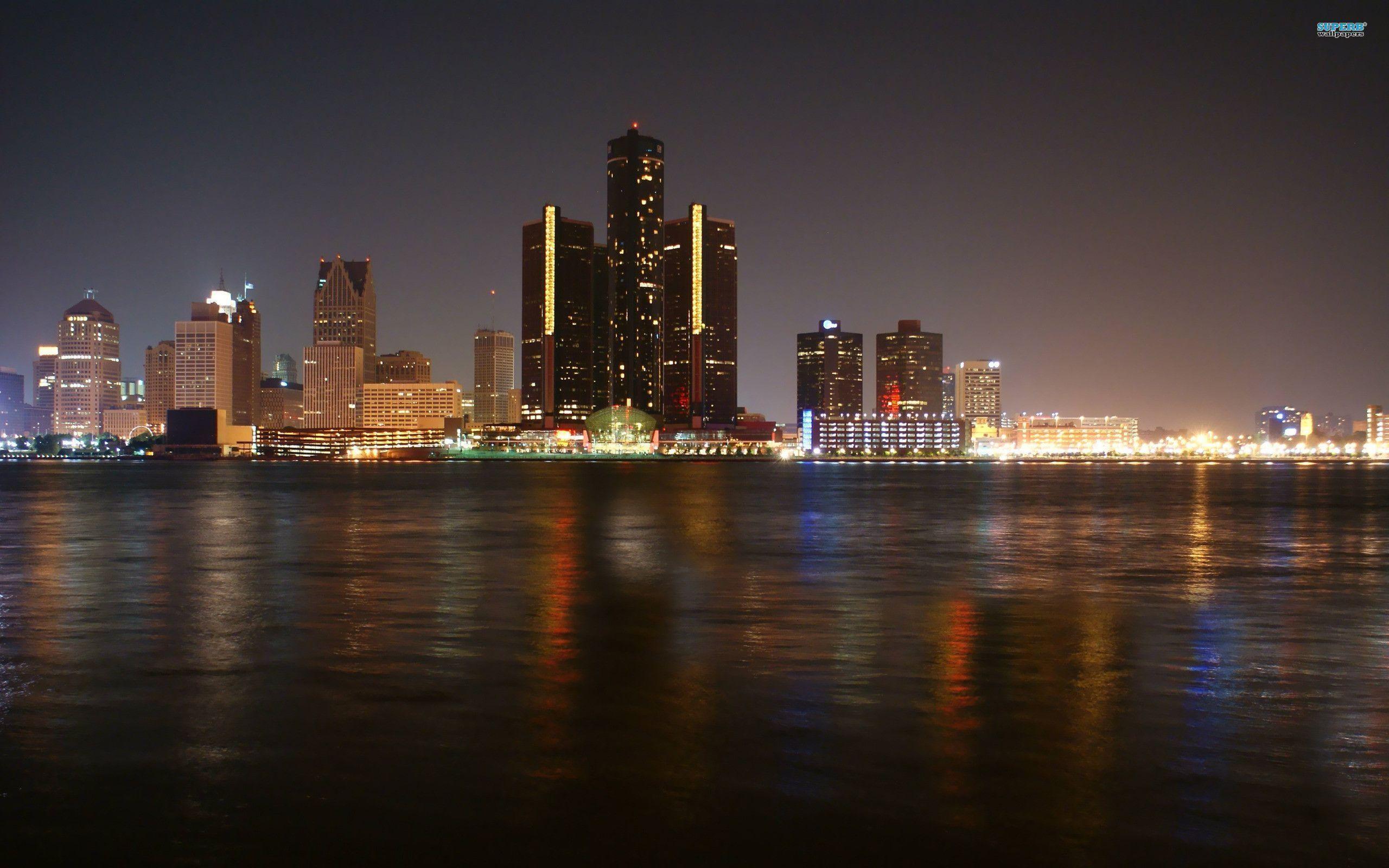 Detroit Skyline Wallpaper Wallpapertag