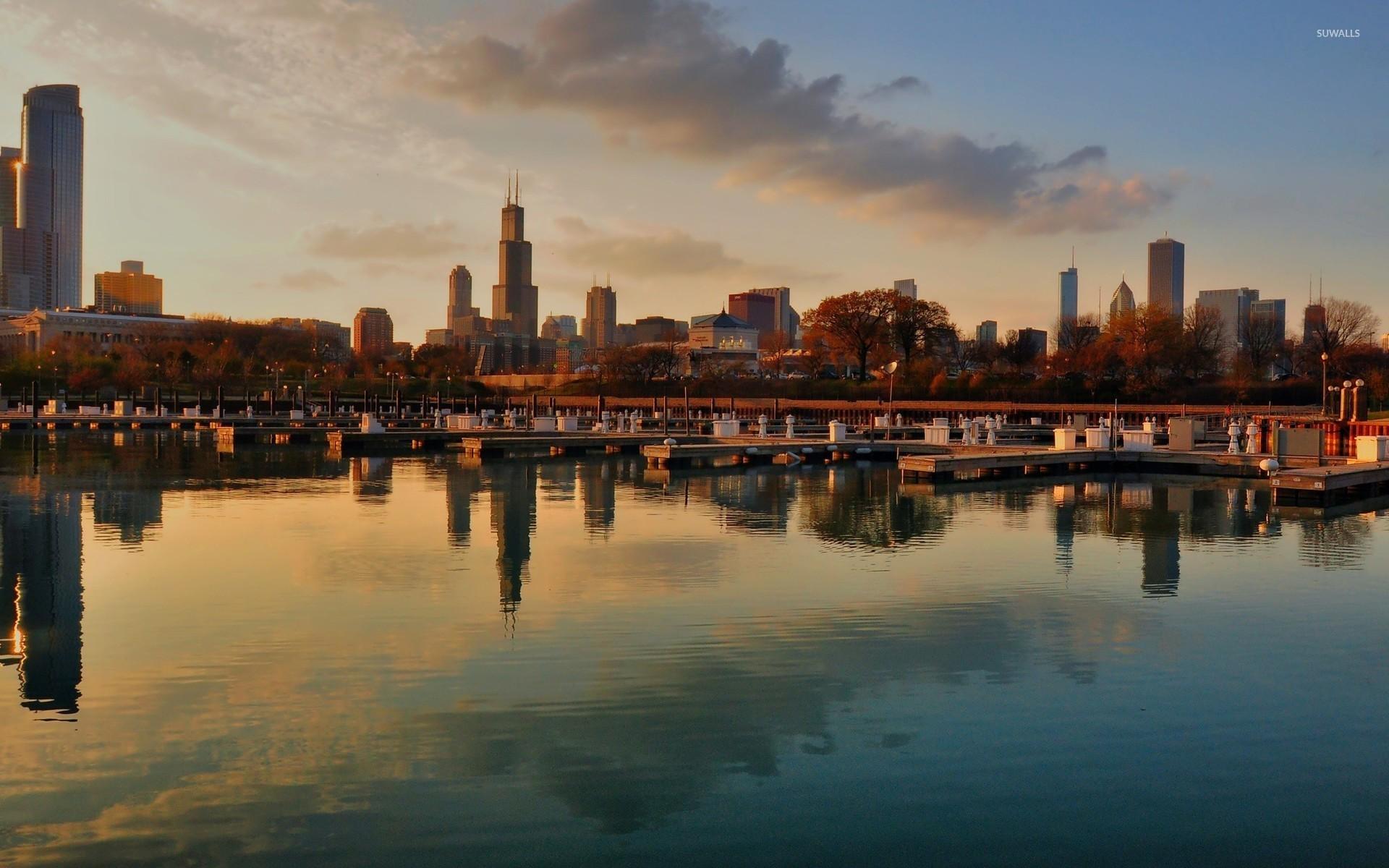 Chicago skyline background wallpapertag - Chicago skyline wallpaper 1920x1080 ...