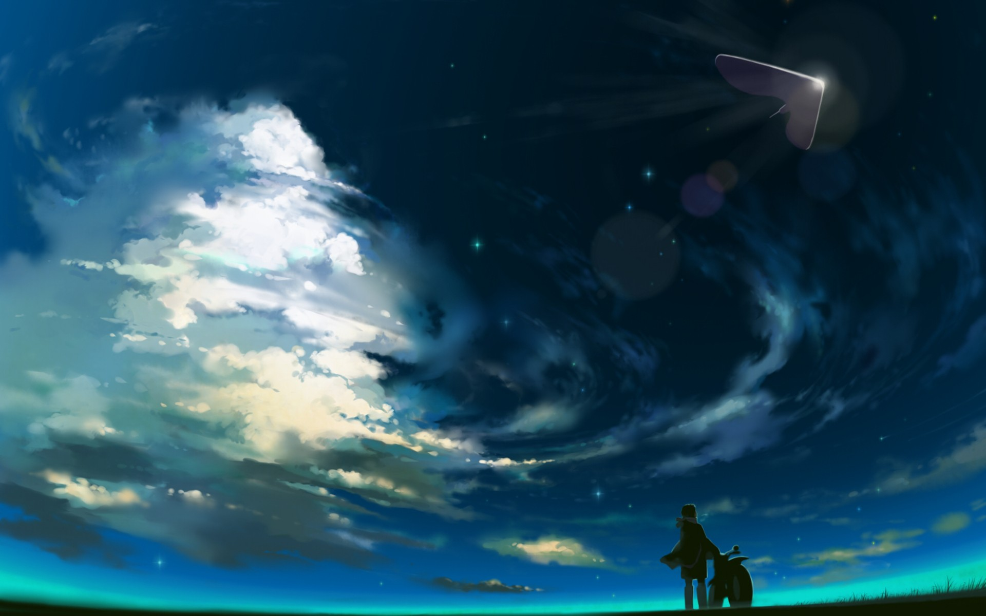 1920x1200 Beautiful Anime Scenery Wallpaper : stunning-wallpaper - designwebi.com